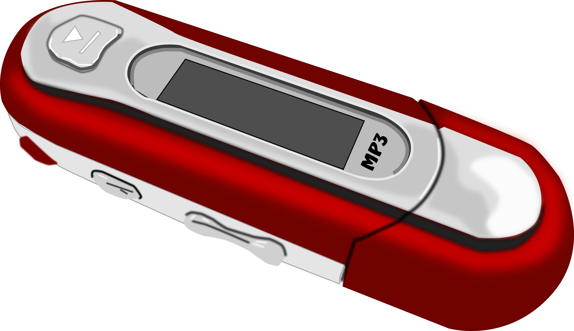 A Red old style MP3 Player by mystica