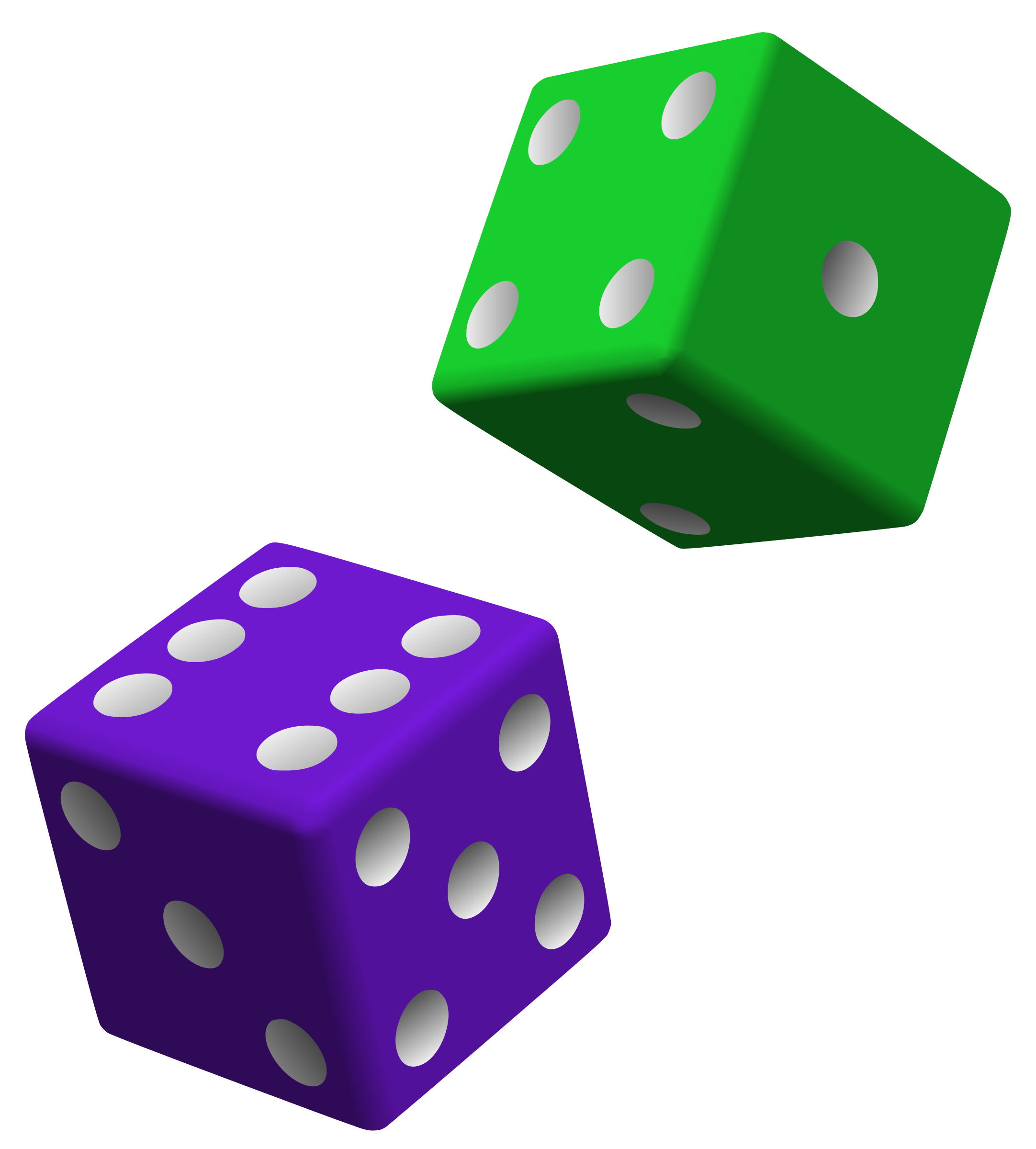 Green and Purple Dice by eady
