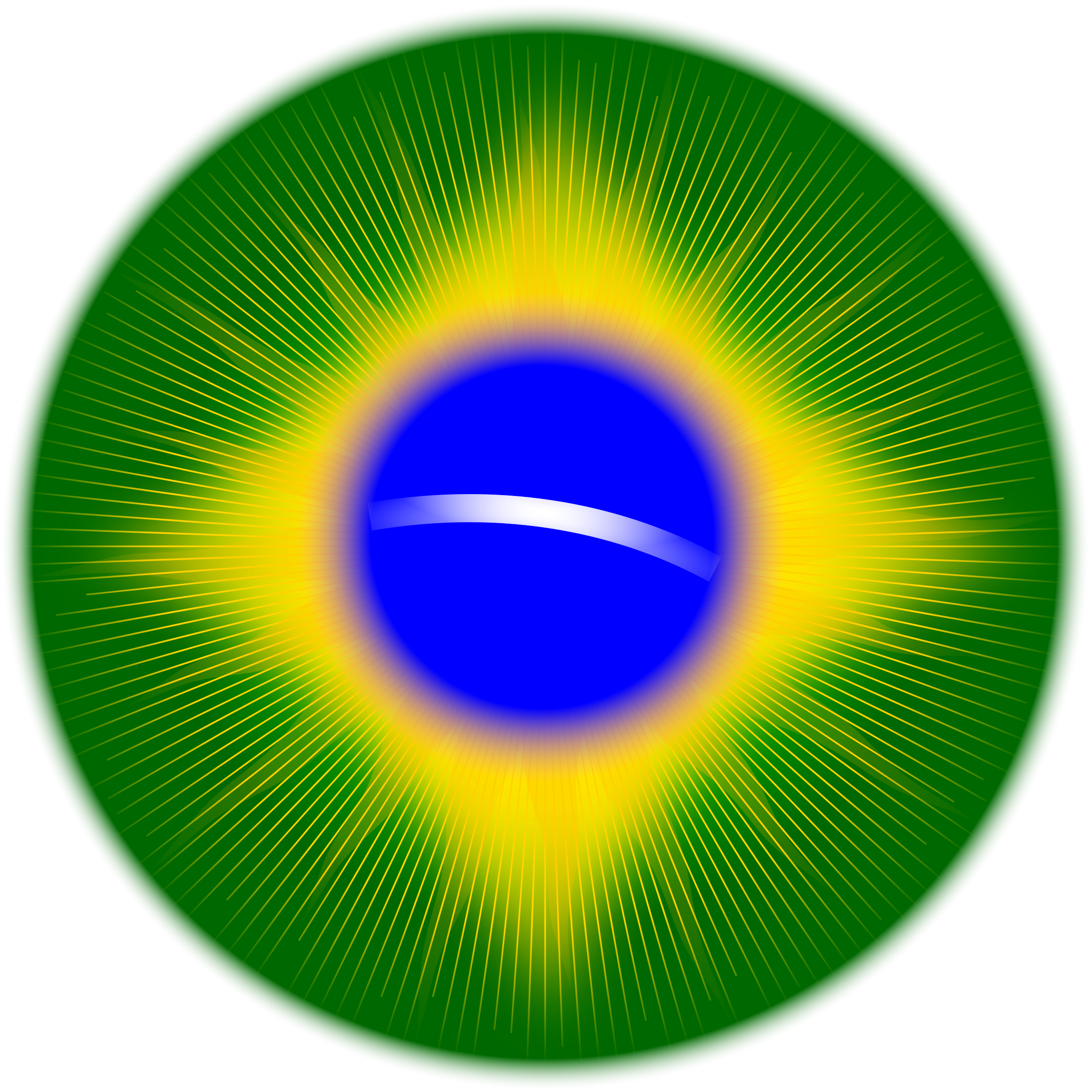 Rounded Brazil flag by laobc