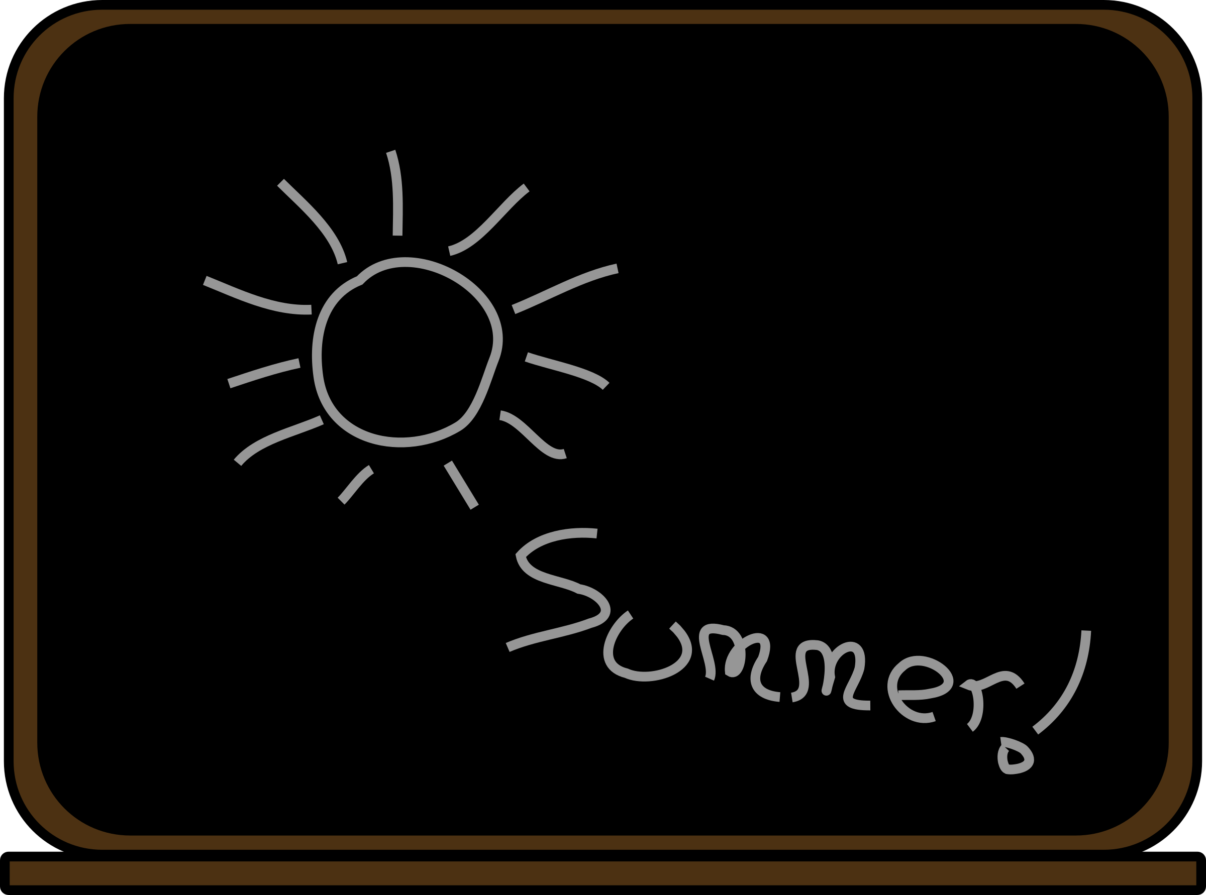 Summer school blackboard by laobc