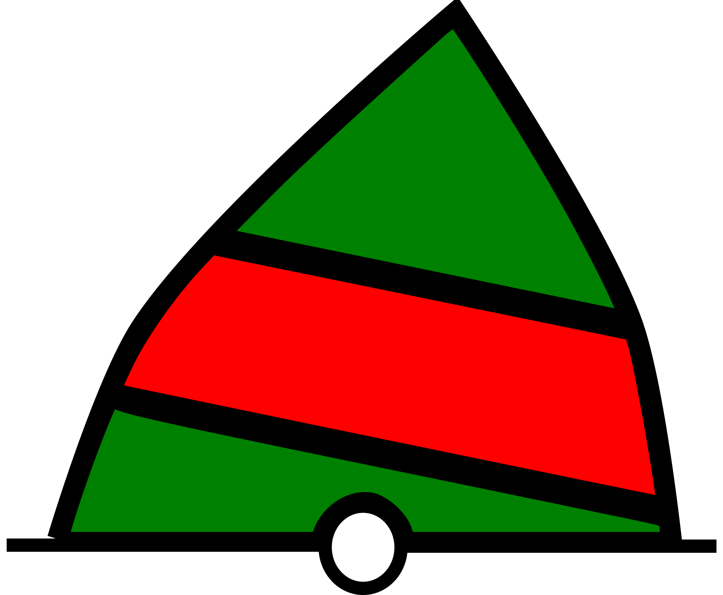 conical buoy green-red-green by seafish