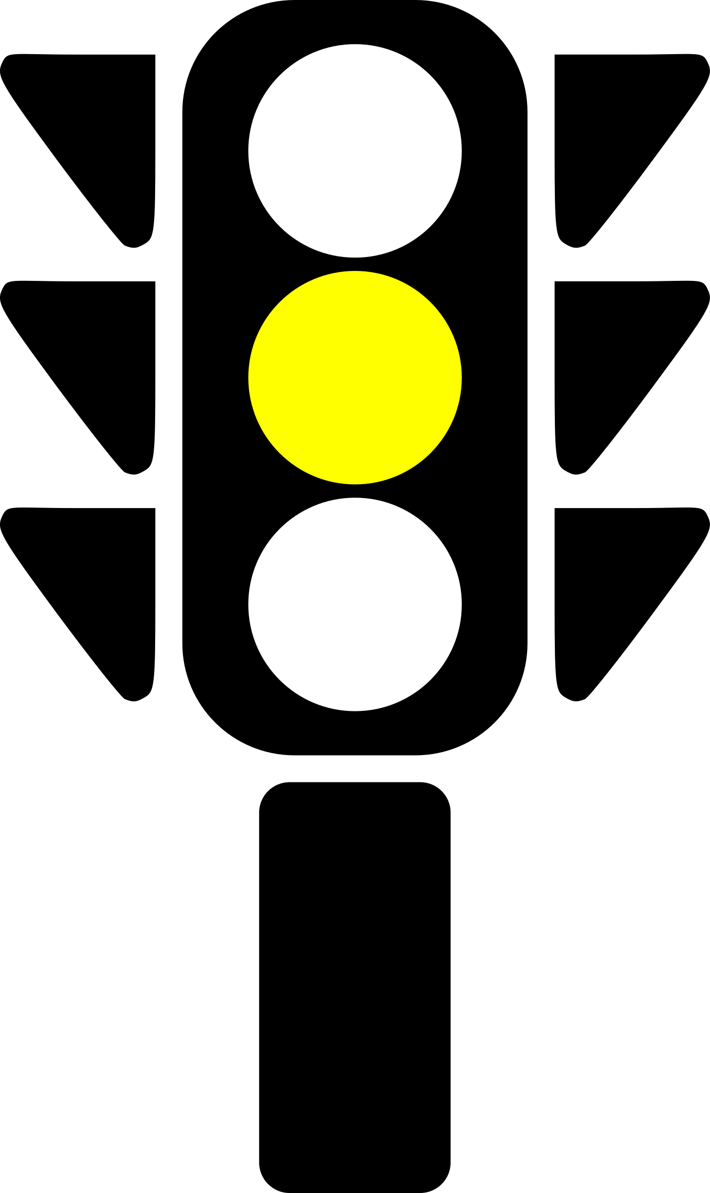 Traffic semaphore yellow light by laobc