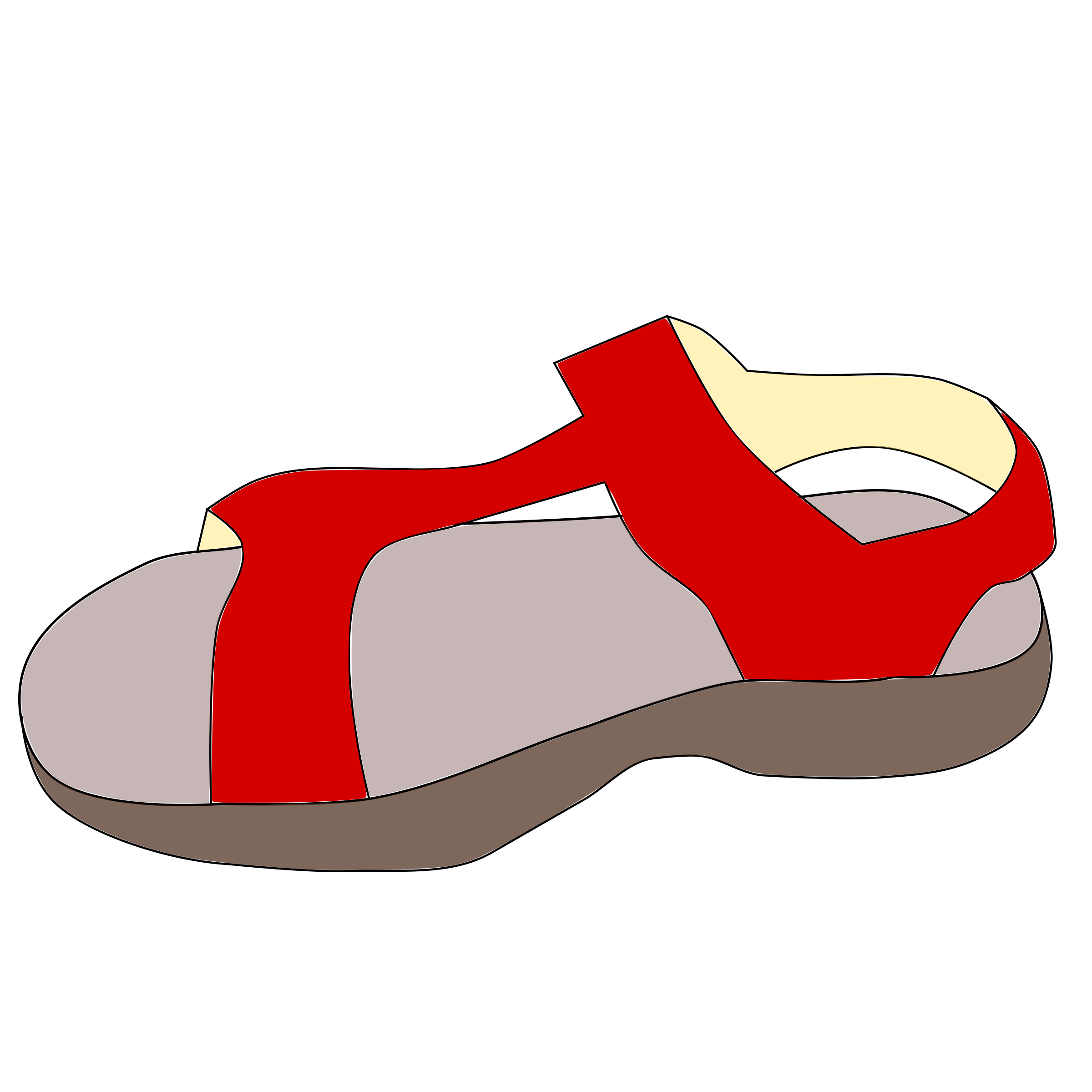 Red sandal by jarekadam