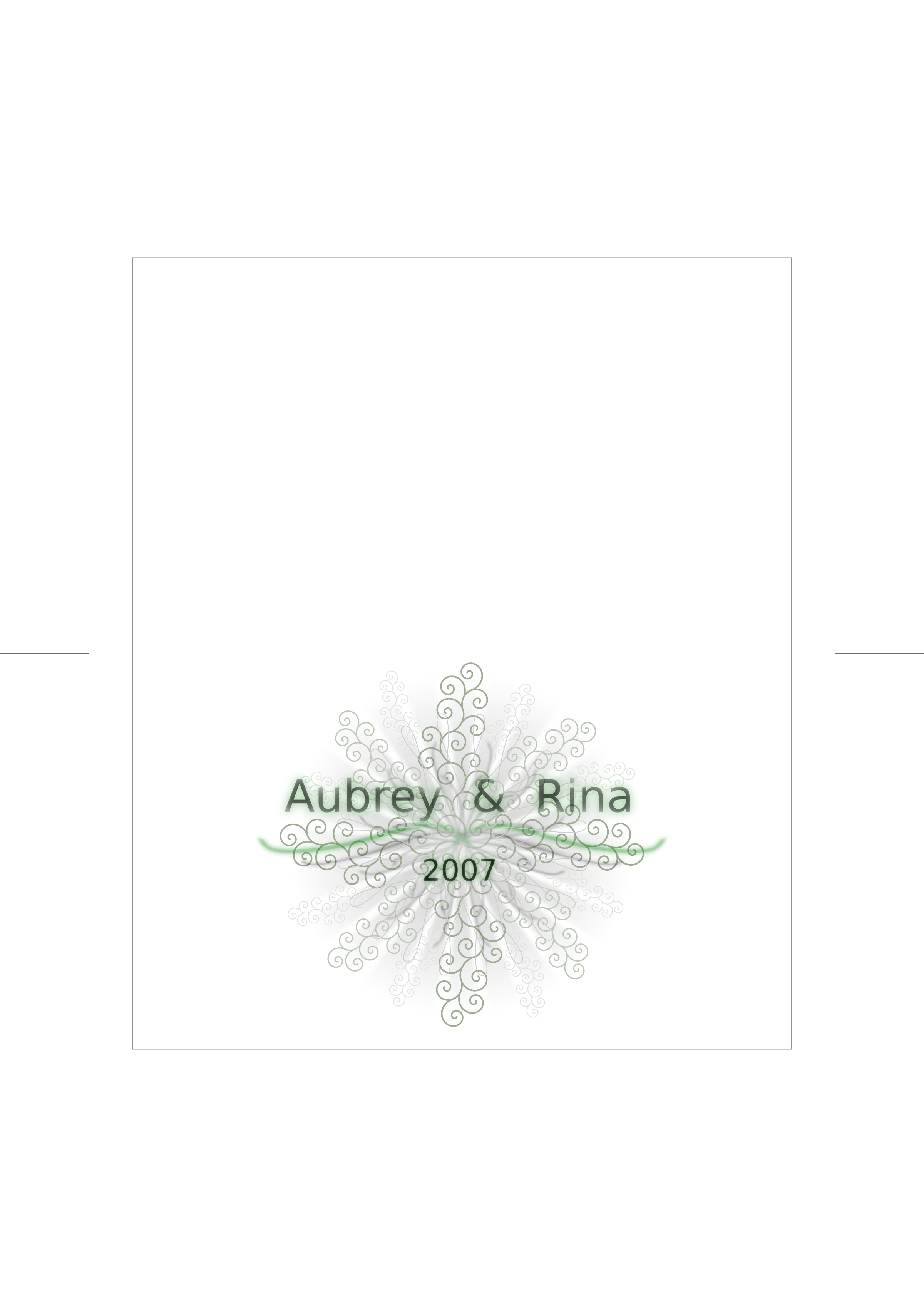 Wedding Invite (outer tracing paper) by apogee