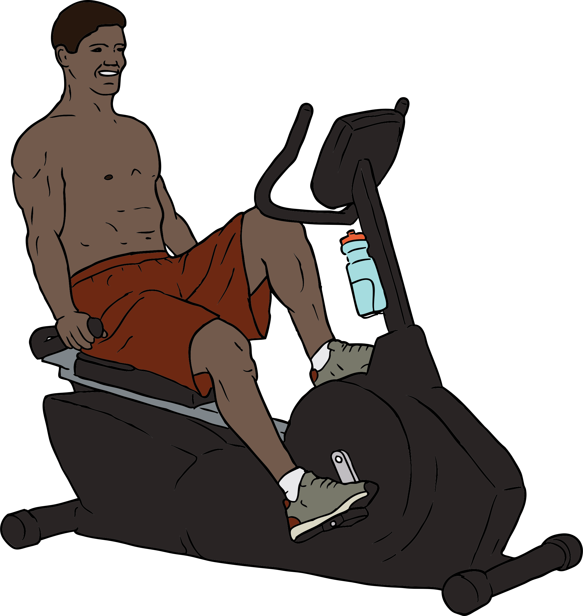 Exercise Bike Man by SteveLambert