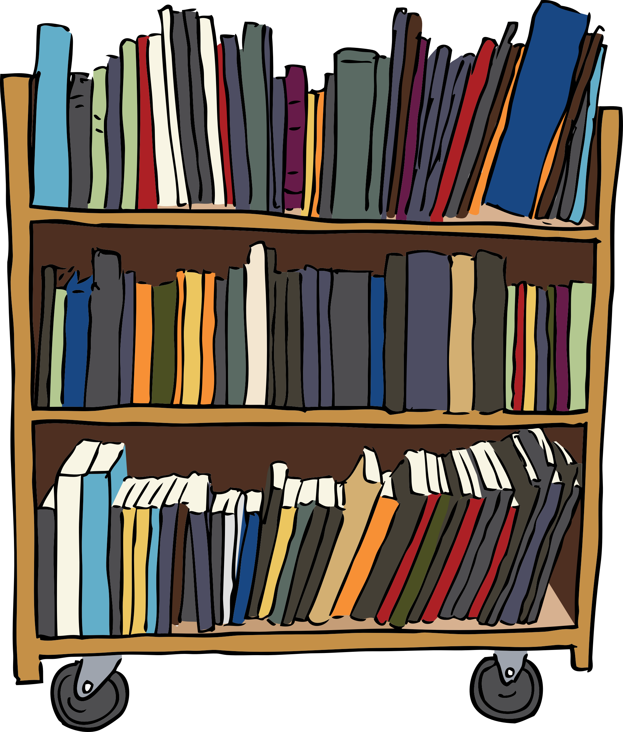 Clipart - Library Book Cart