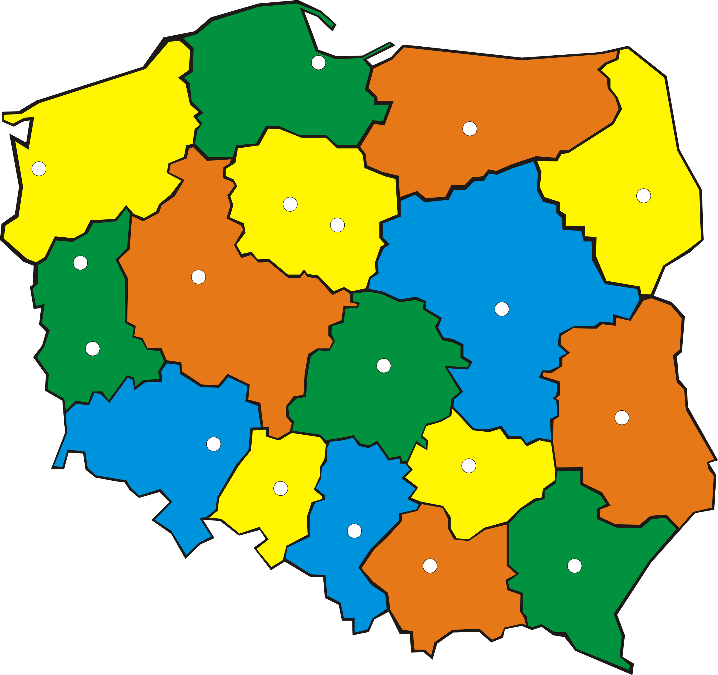 Map of Poland by kuba