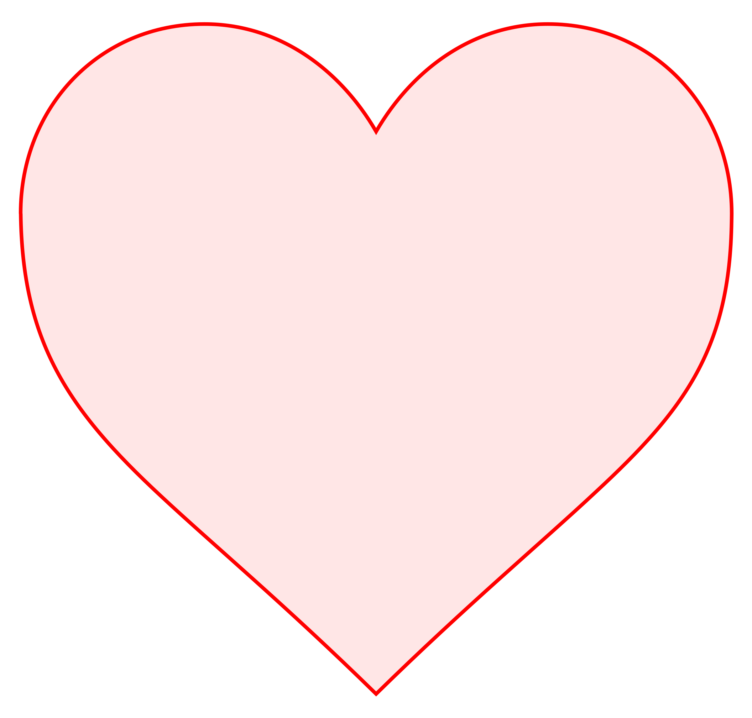 pink heart by mireille