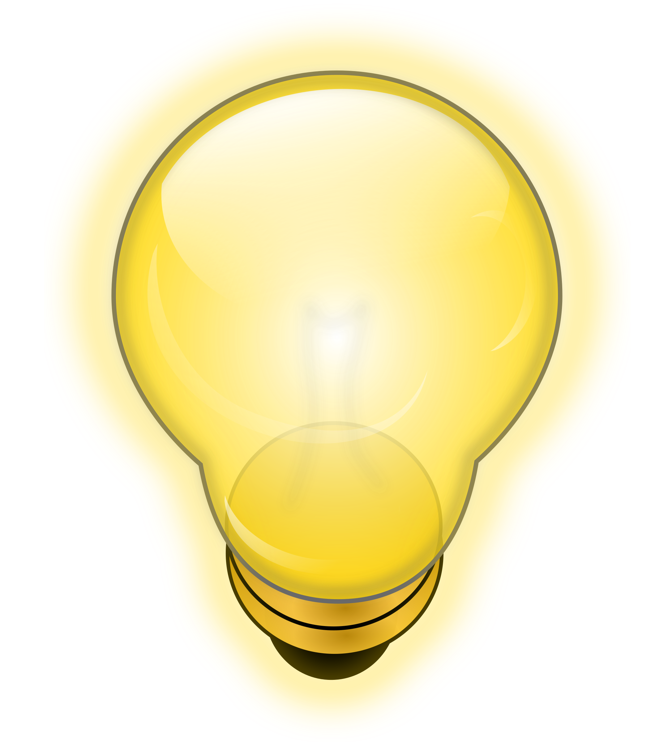 Clipart - Glowing Light Bulb for Light Bulb Animated Gif  186ref