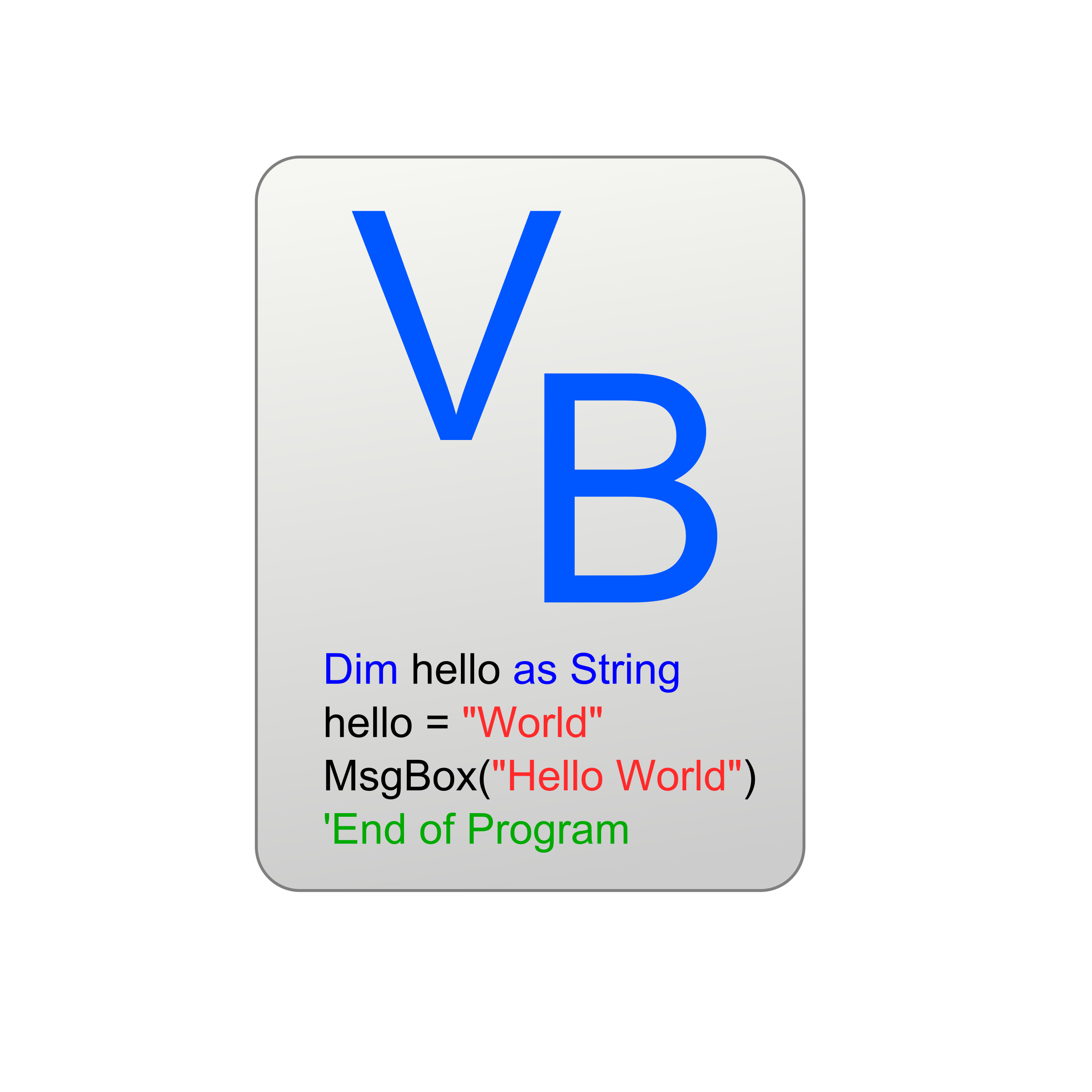 Visual Basic Icon by marricklip14