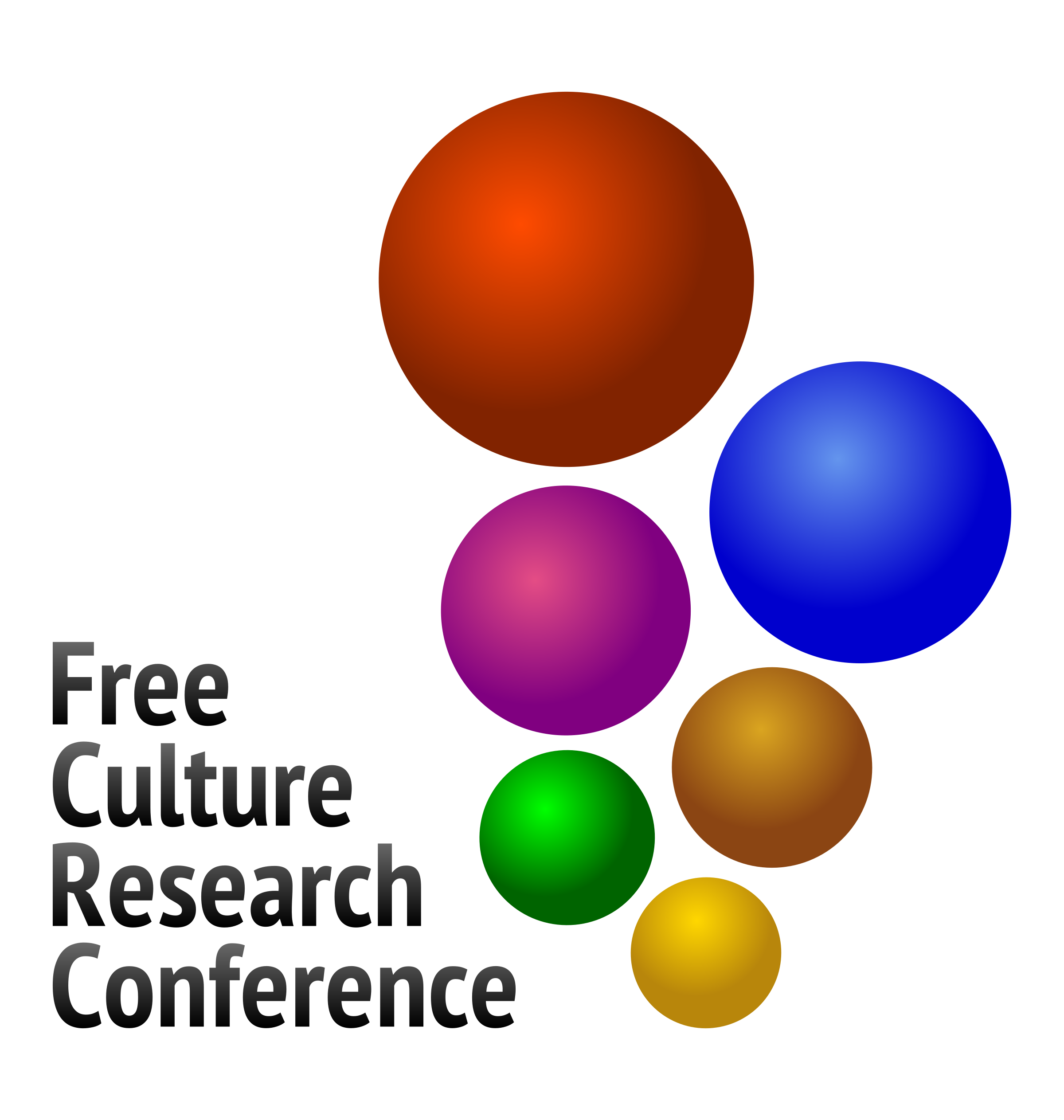 Free Culture Research Conference logo V2 by jumpordie