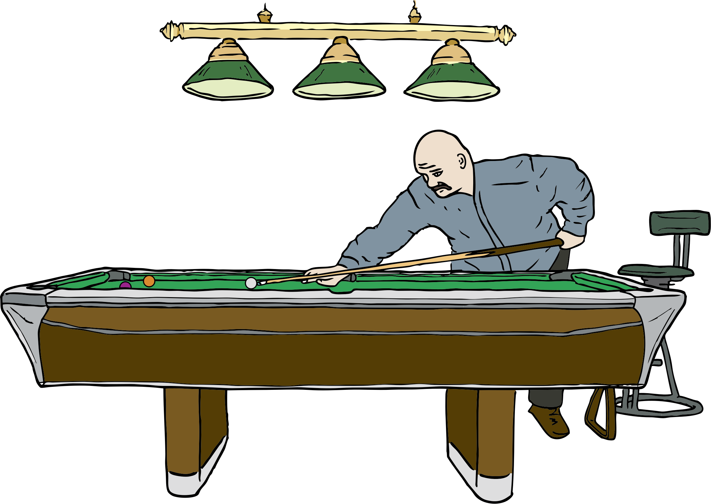 Pool Table with Player by SteveLambert