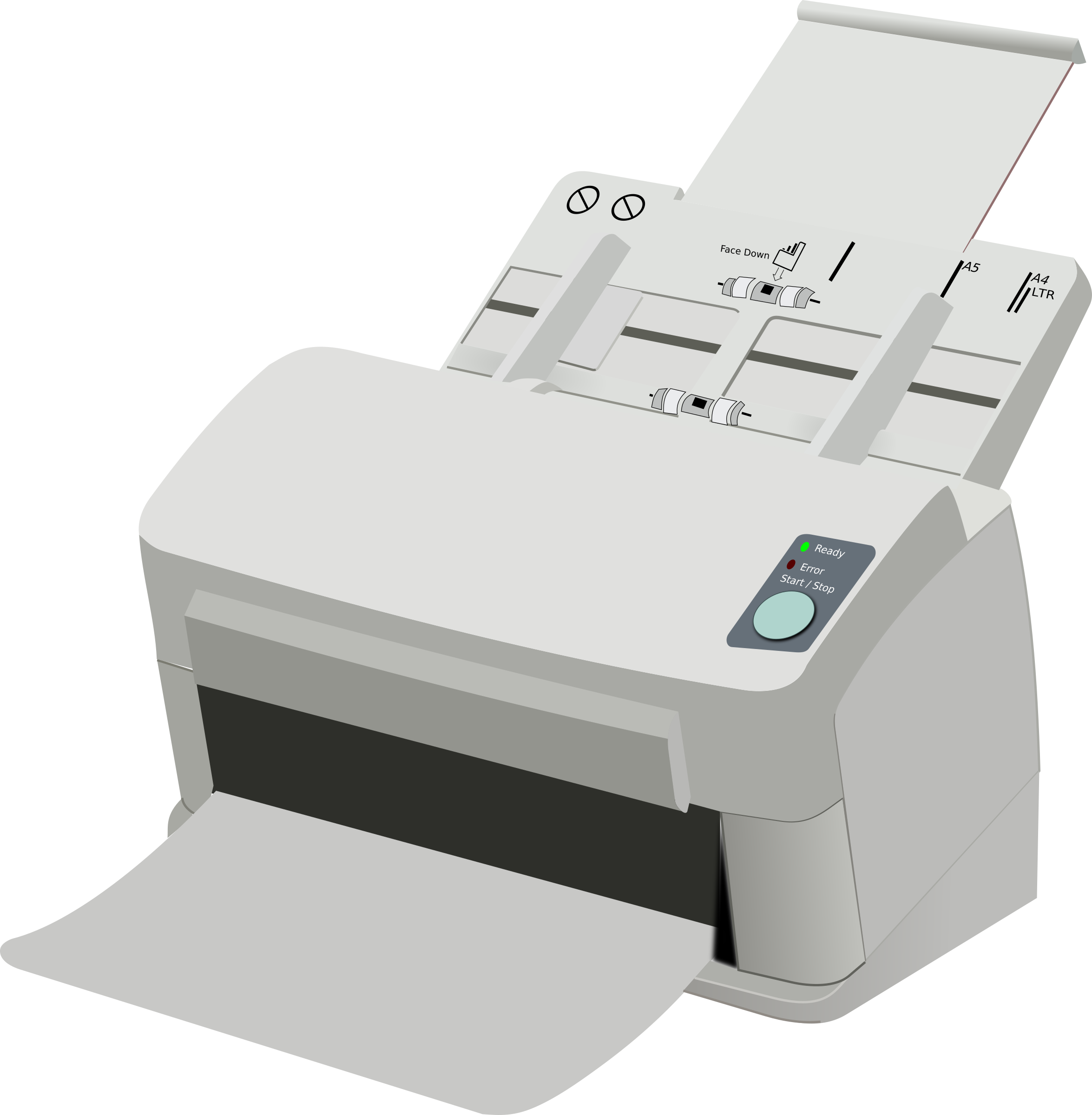 Clipart - Sheet Fed Scanner