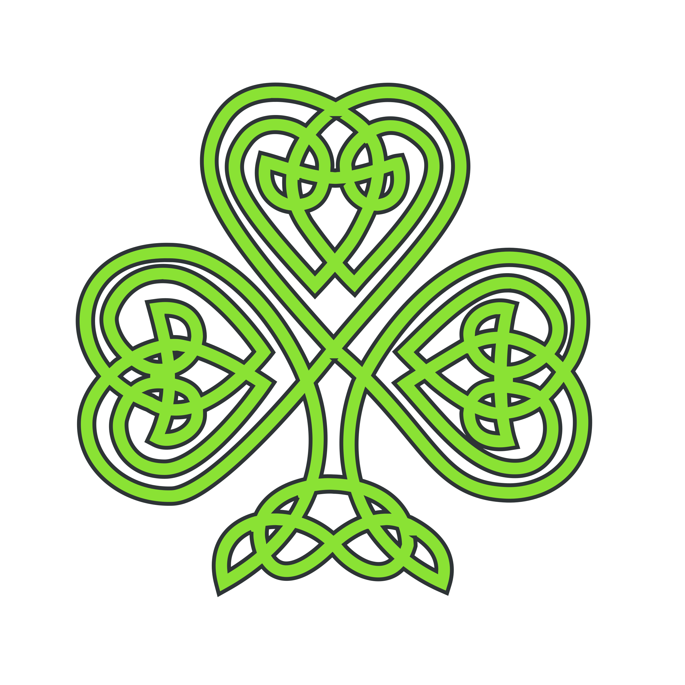 celtic shamrock by mairin
