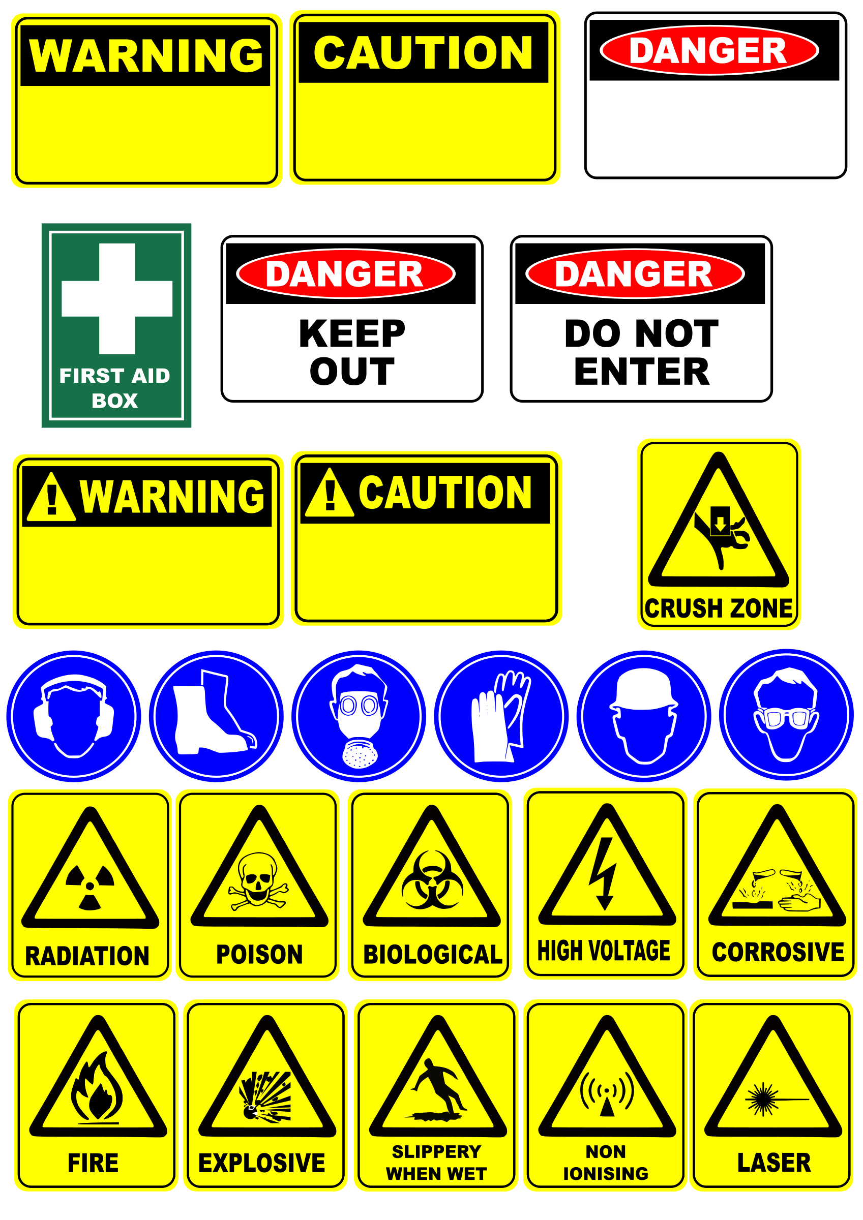 safety signs by Leomarc