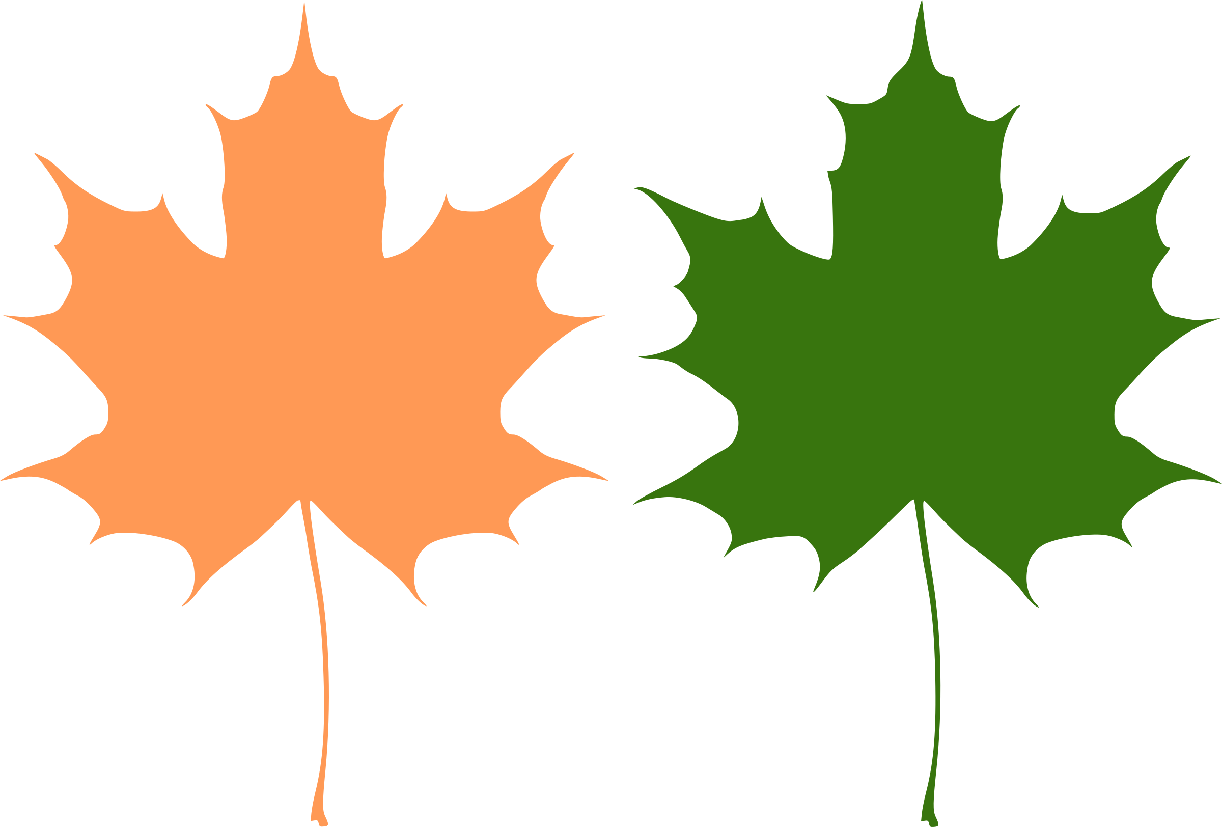 Maple leaves by rones