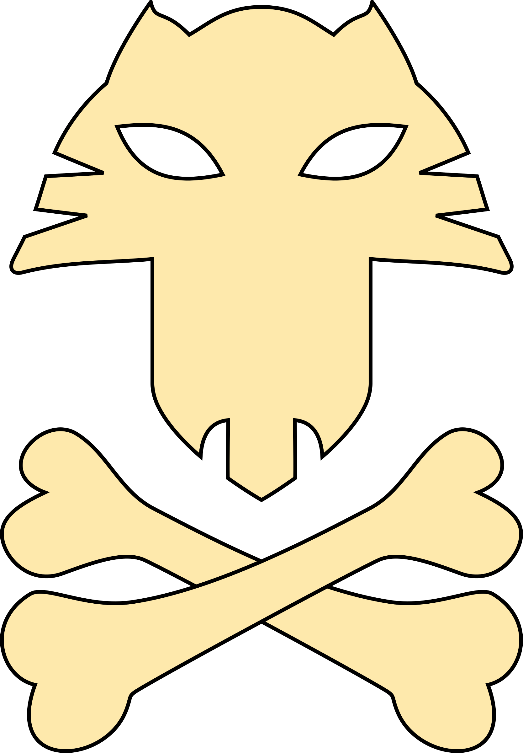 Cat pirates symbol by rones