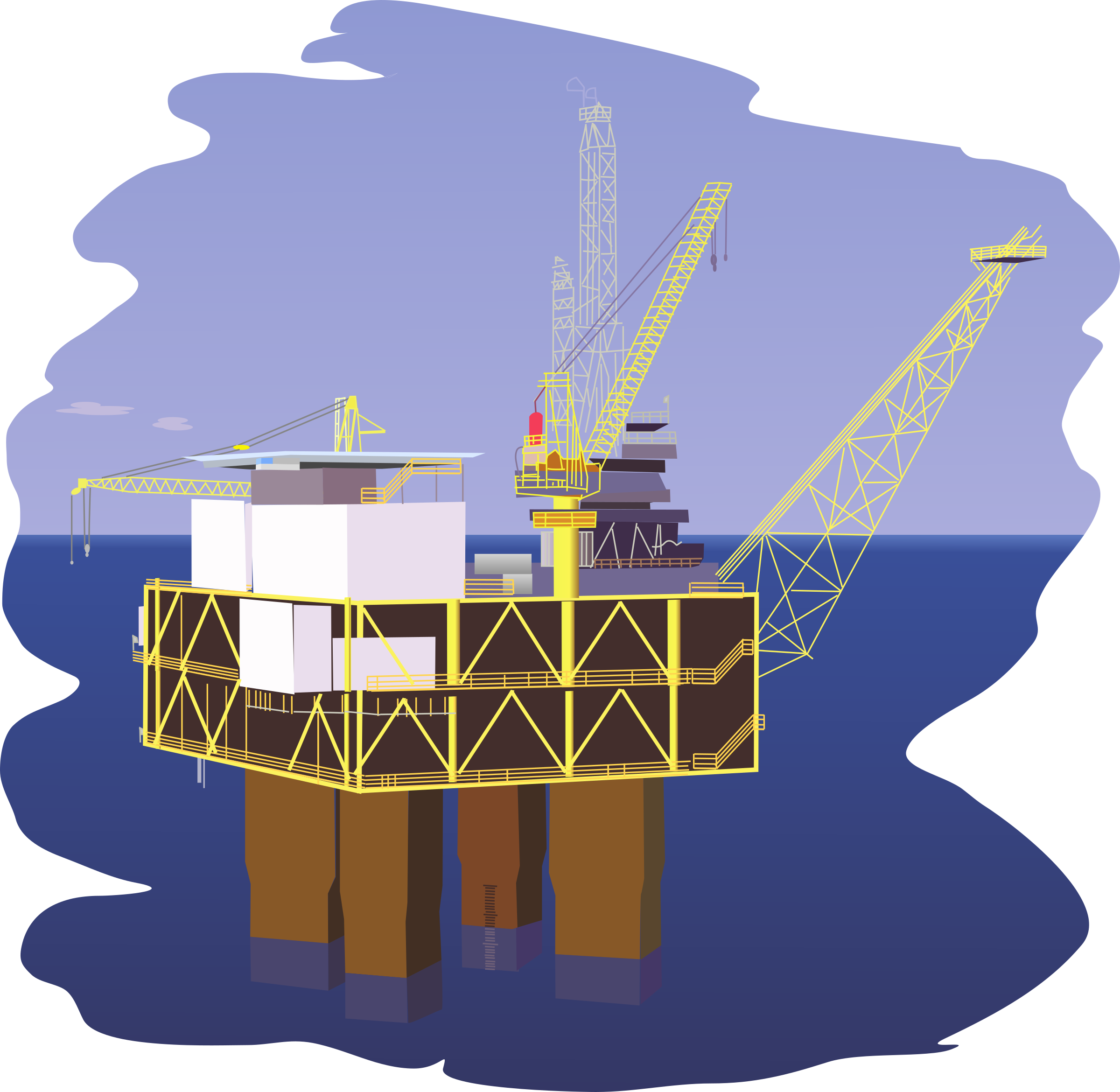 Oil rig by regelatwork
