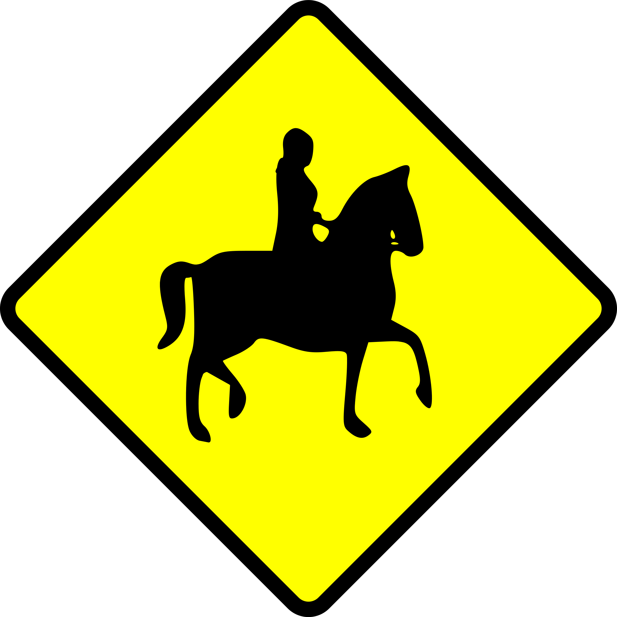 caution-horse rider by Leomarc