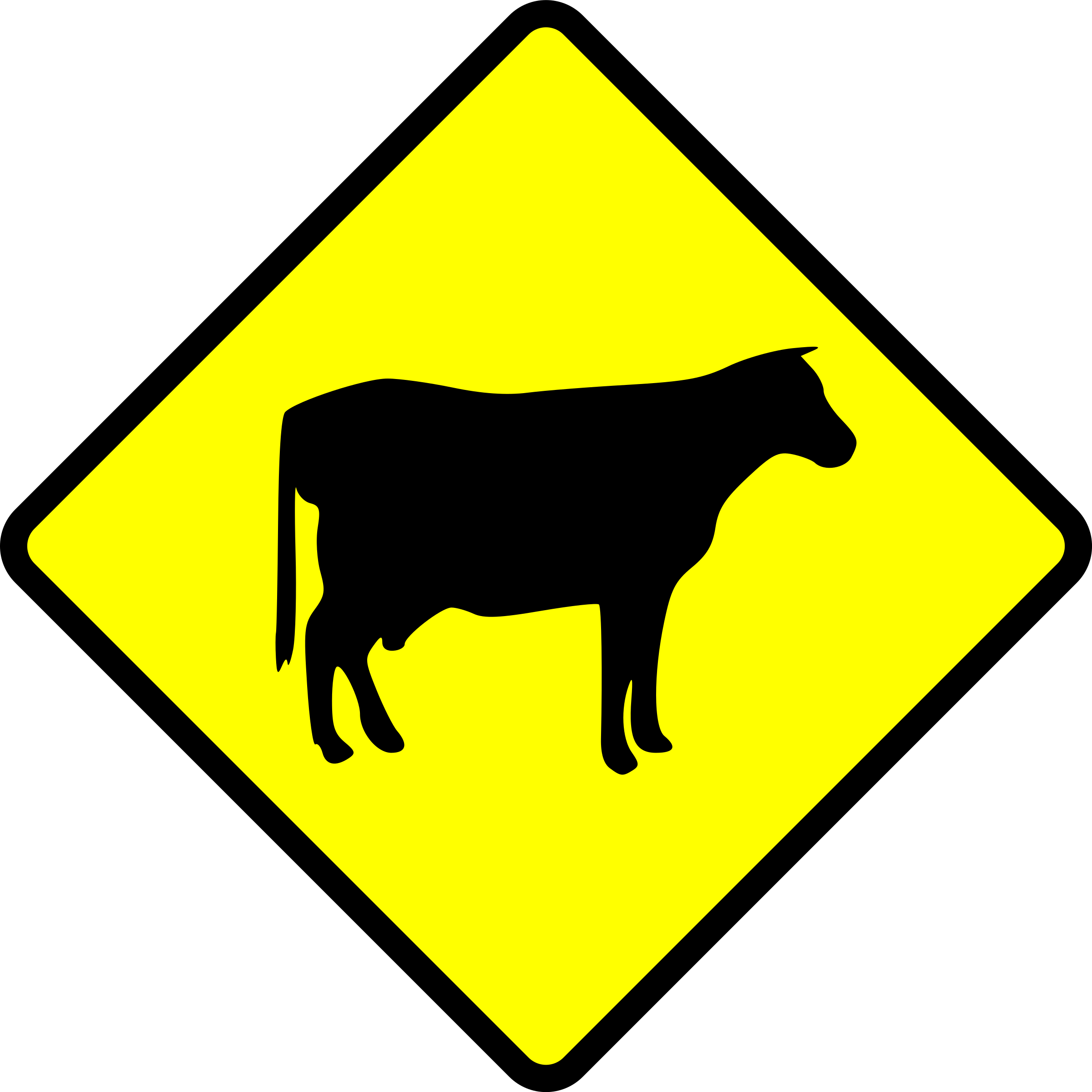 caution-cows crossing by Leomarc