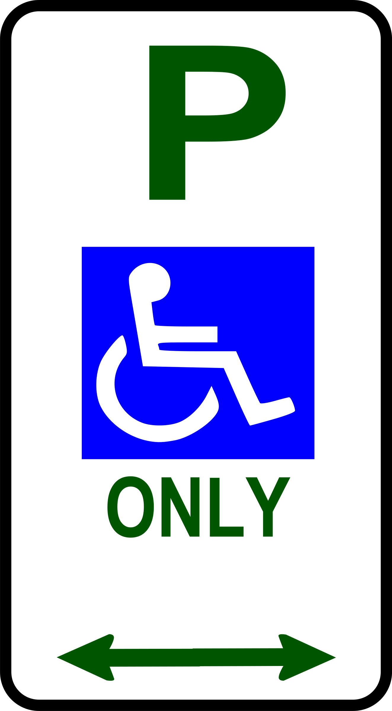sign_disabled parking by Leomarc