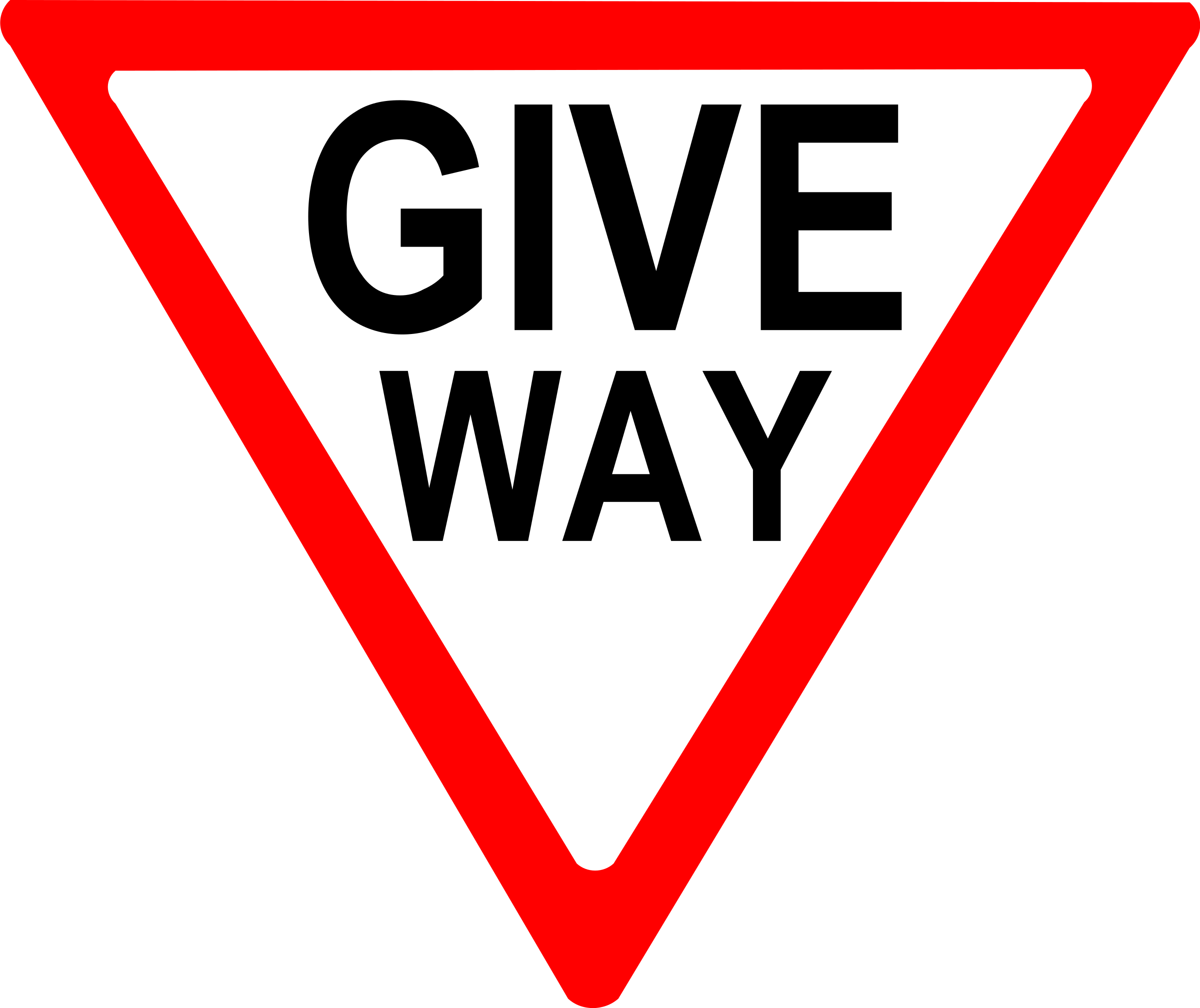 give way sign by Leomarc