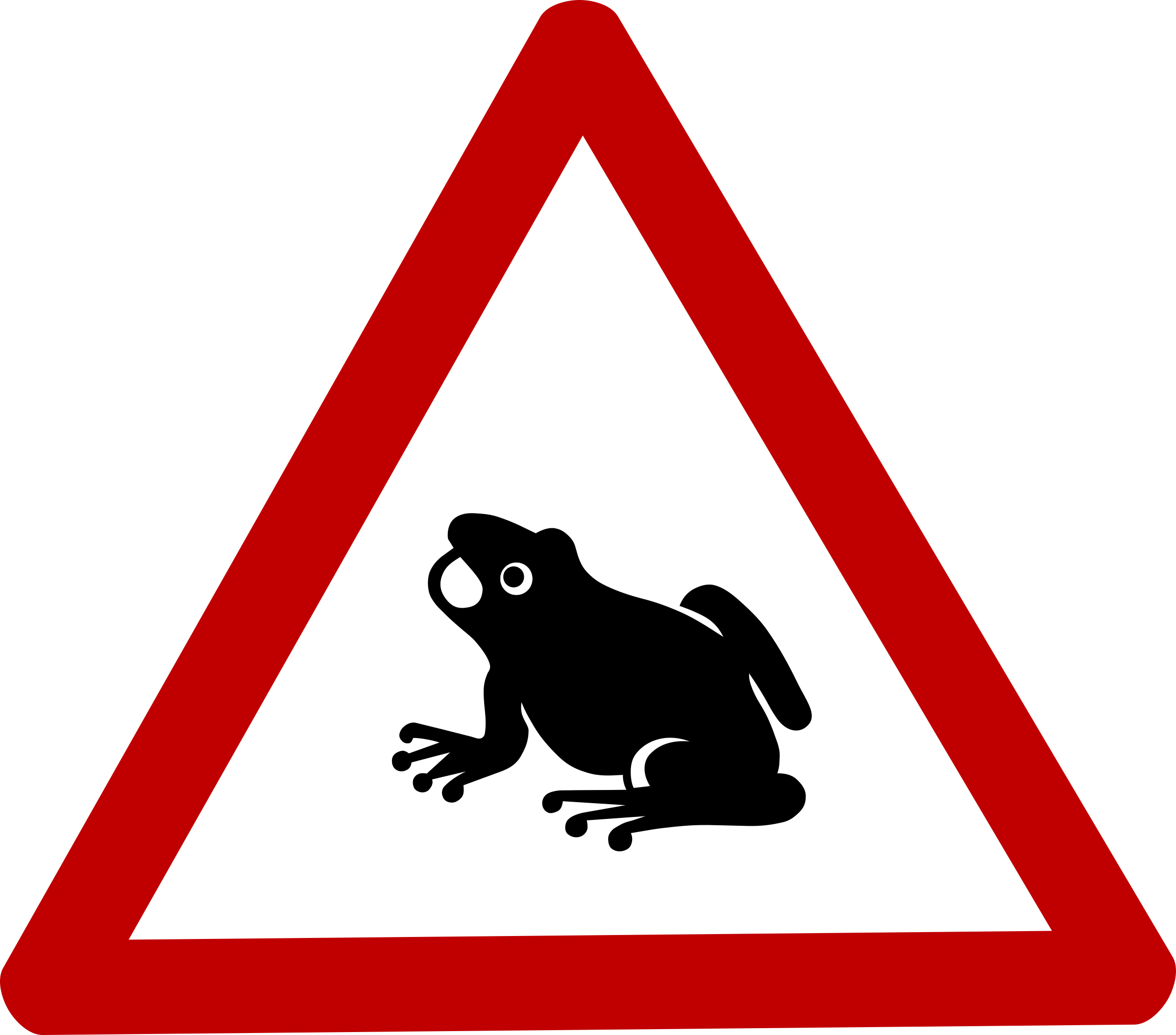 Caution Frog Sign by wipp