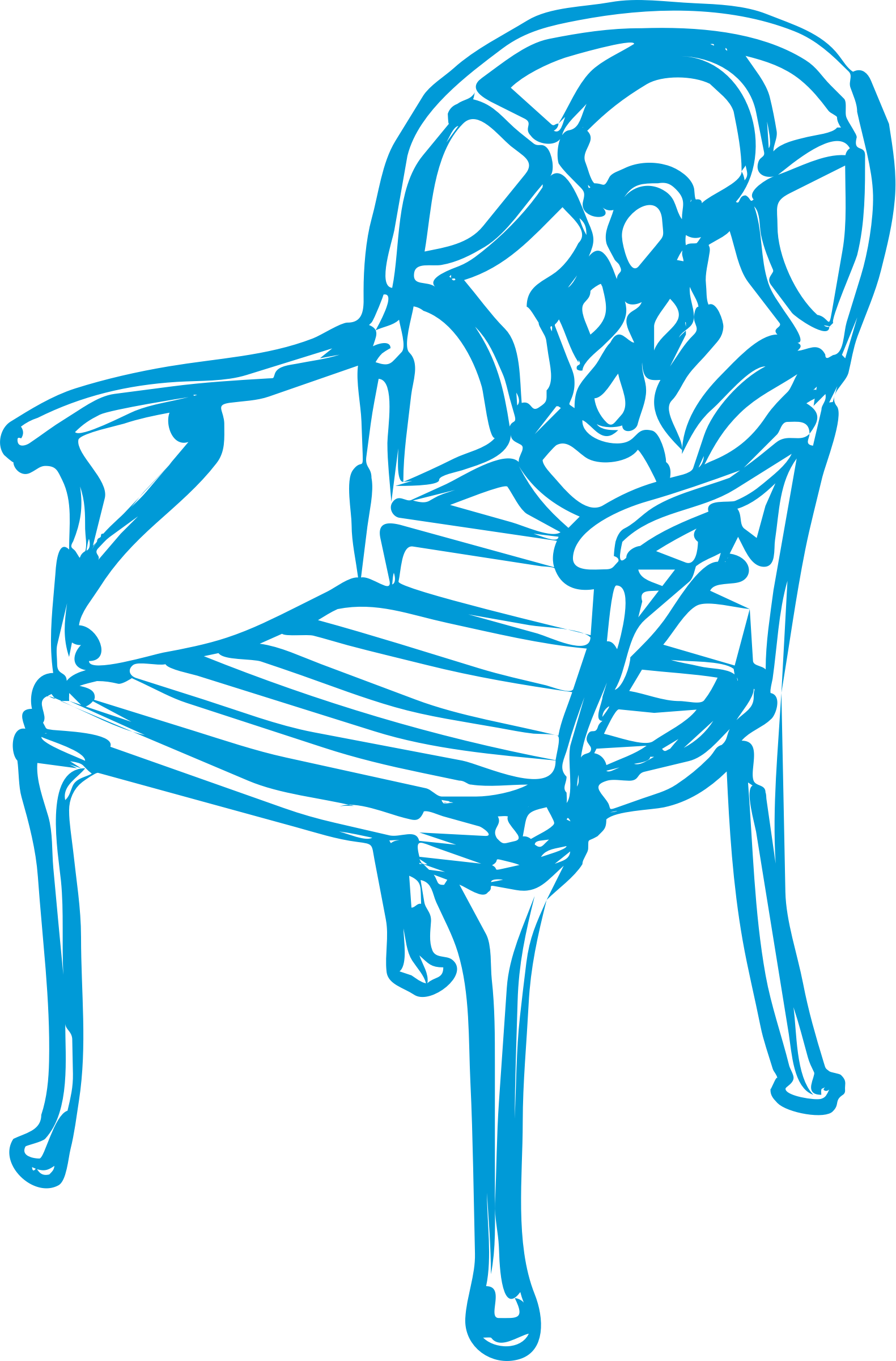slim blue chair by johnny_automatic
