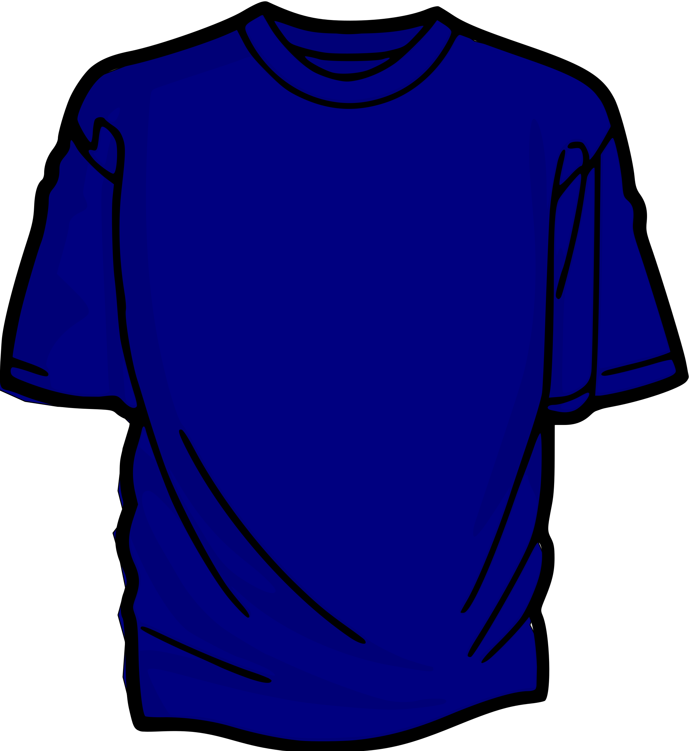 T-Shirt-blue by asrafil