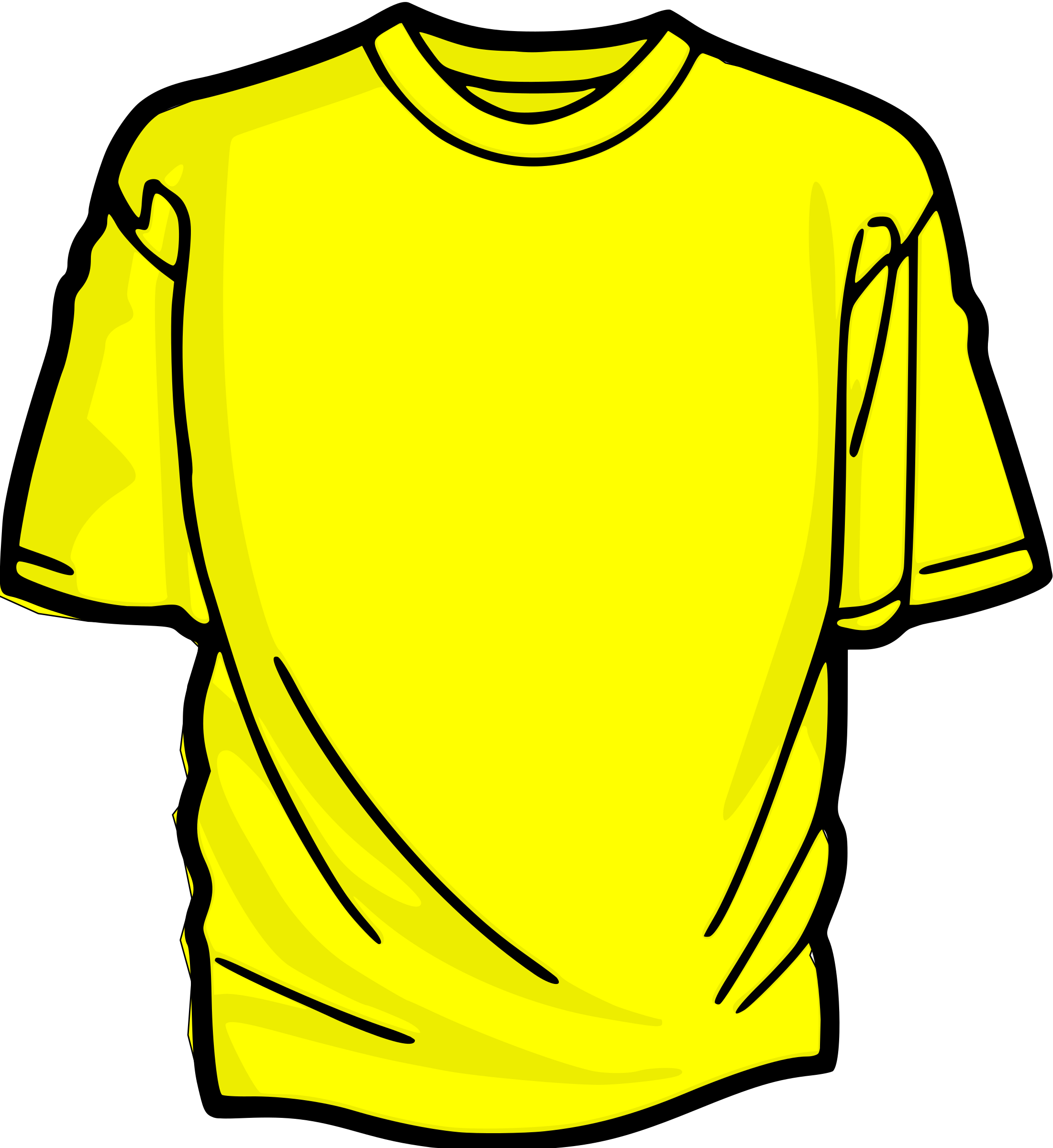 T-Shirt_yelow by asrafil