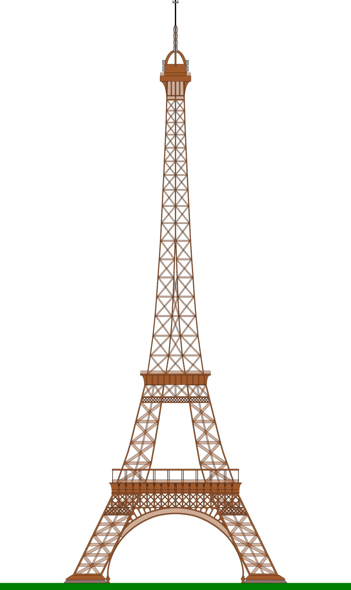 Clipart - Eiffel Tower (Paris)