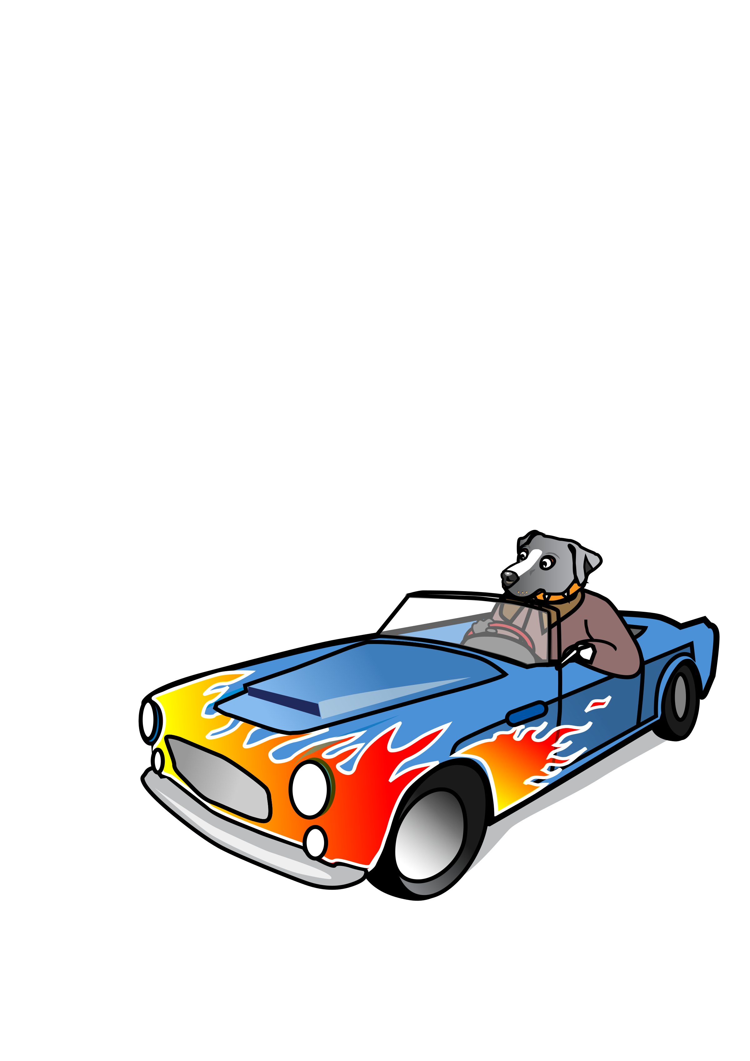 Dog in Sports Car by wildchief