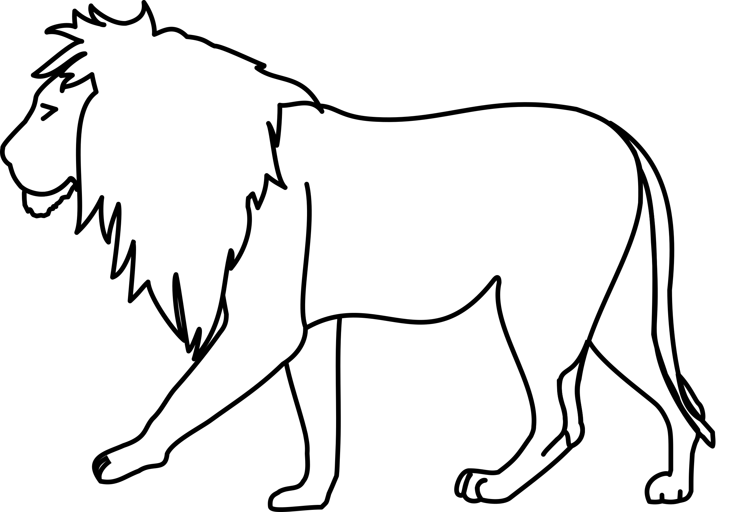 Lion Line Art by horse50
