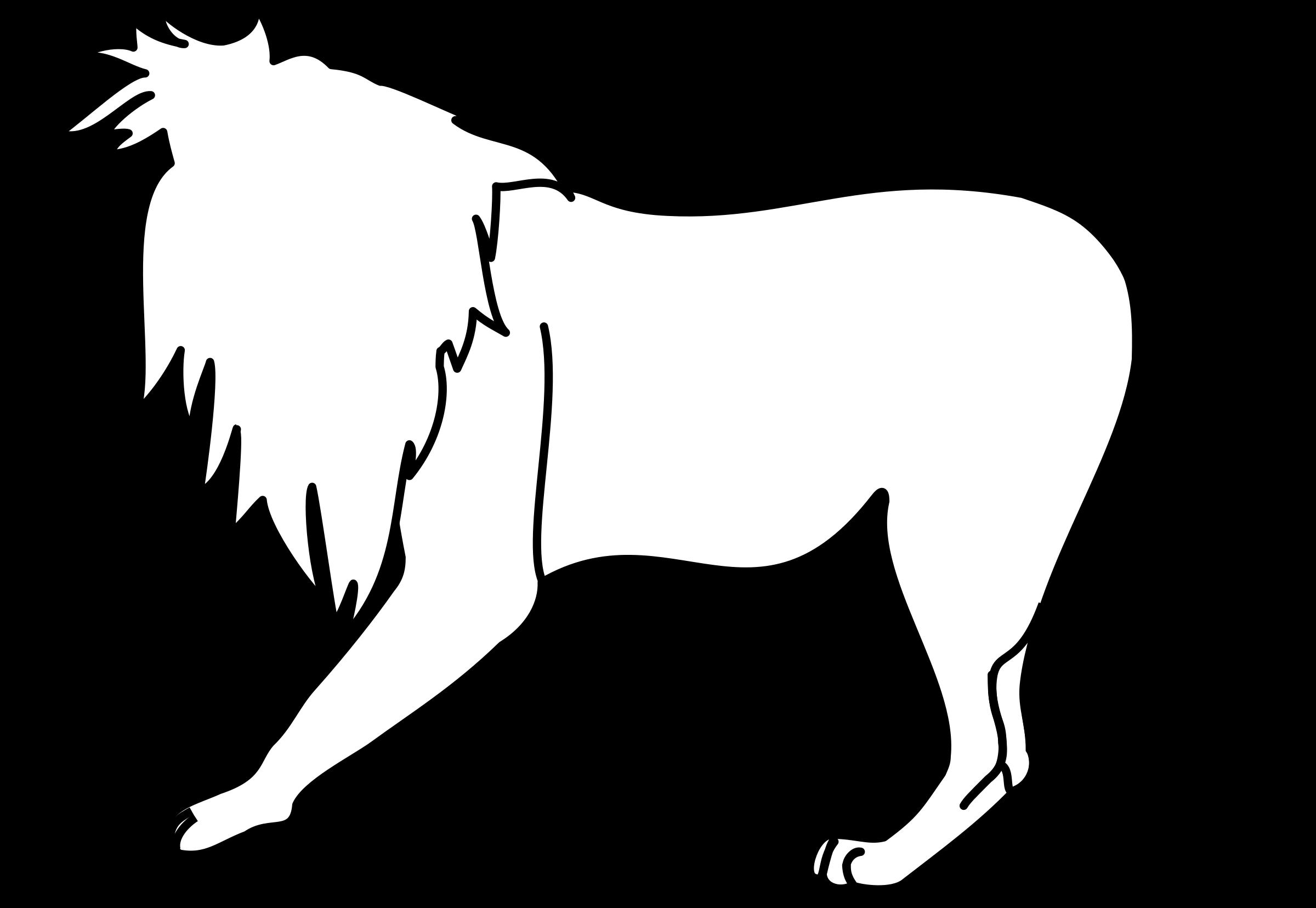 Line Art Of Lion : Clipart lion line art