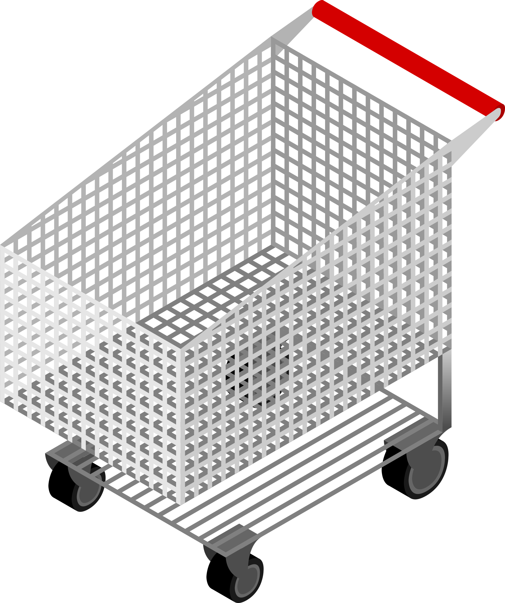 CM Isometric Shopping Cart Empty by depizol