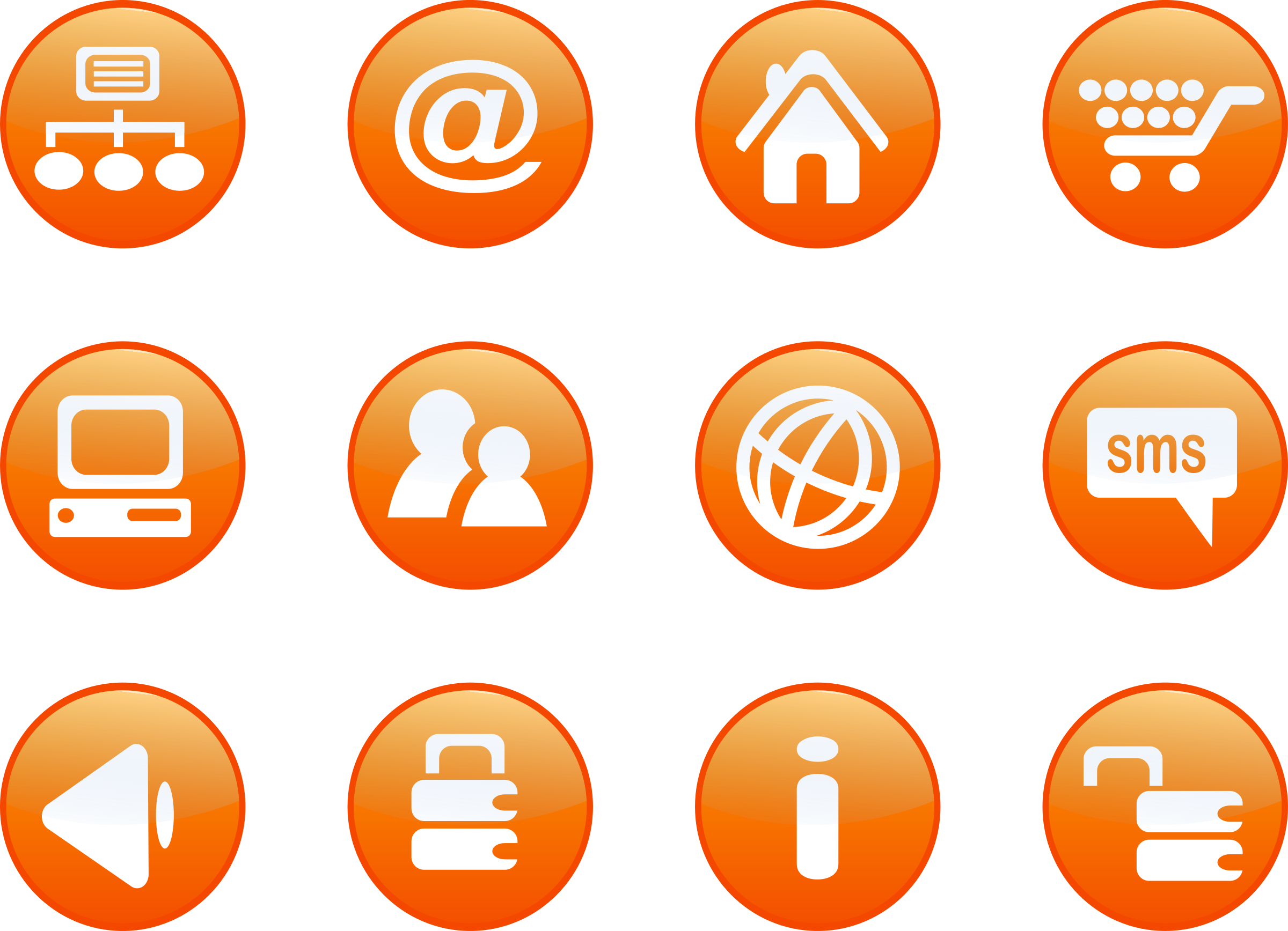 icons orange web candy by shokunin