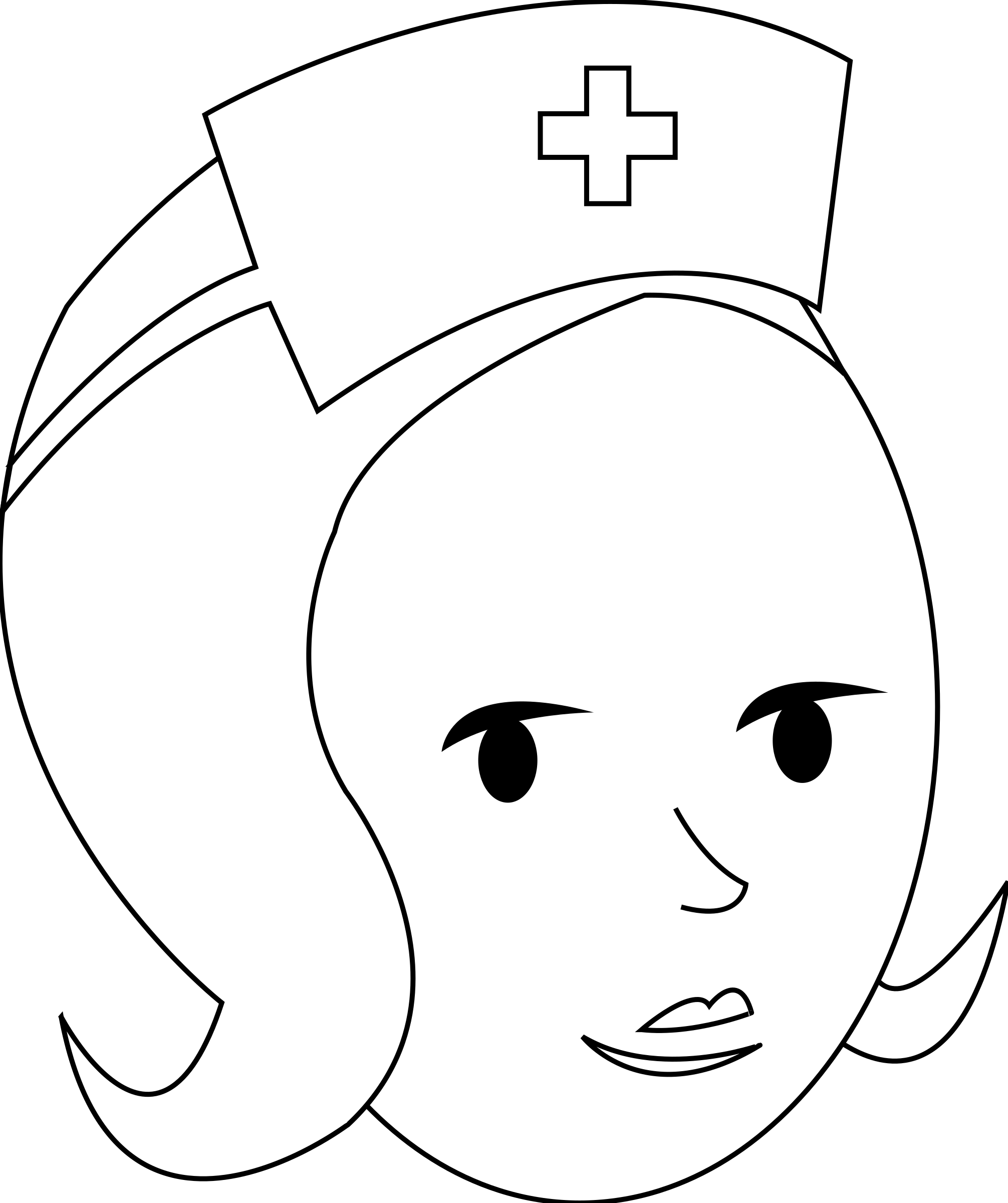 Nurse Line Art by gammillian