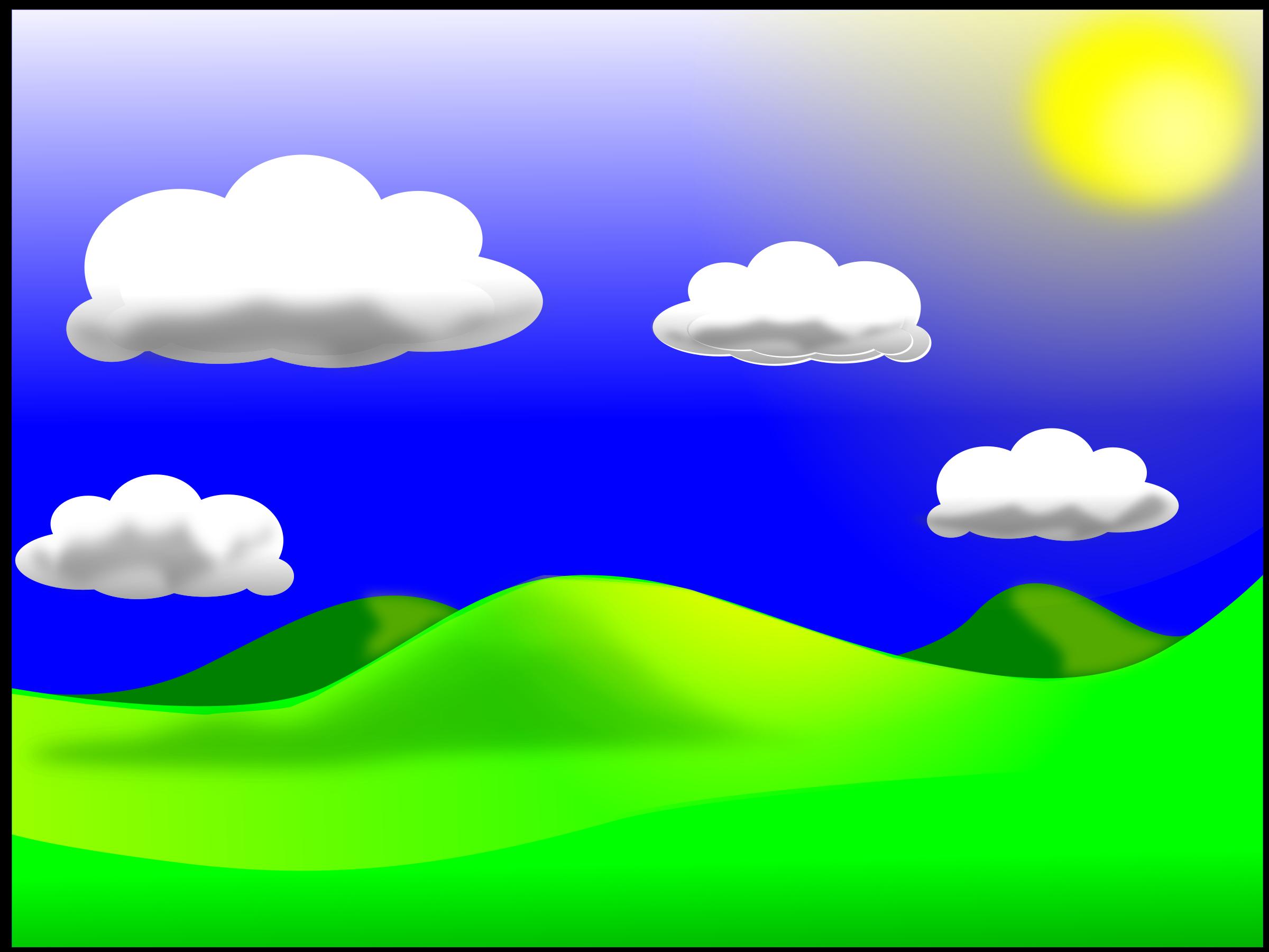 Clipart - Landscape-02: https://openclipart.org/detail/76423/landscape_2