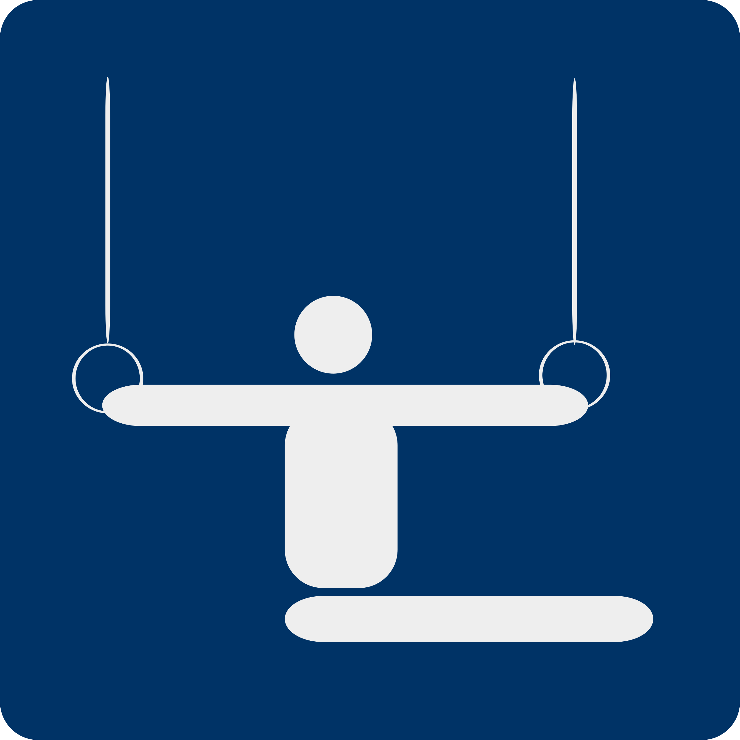 gymnastics pictogram by shokunin
