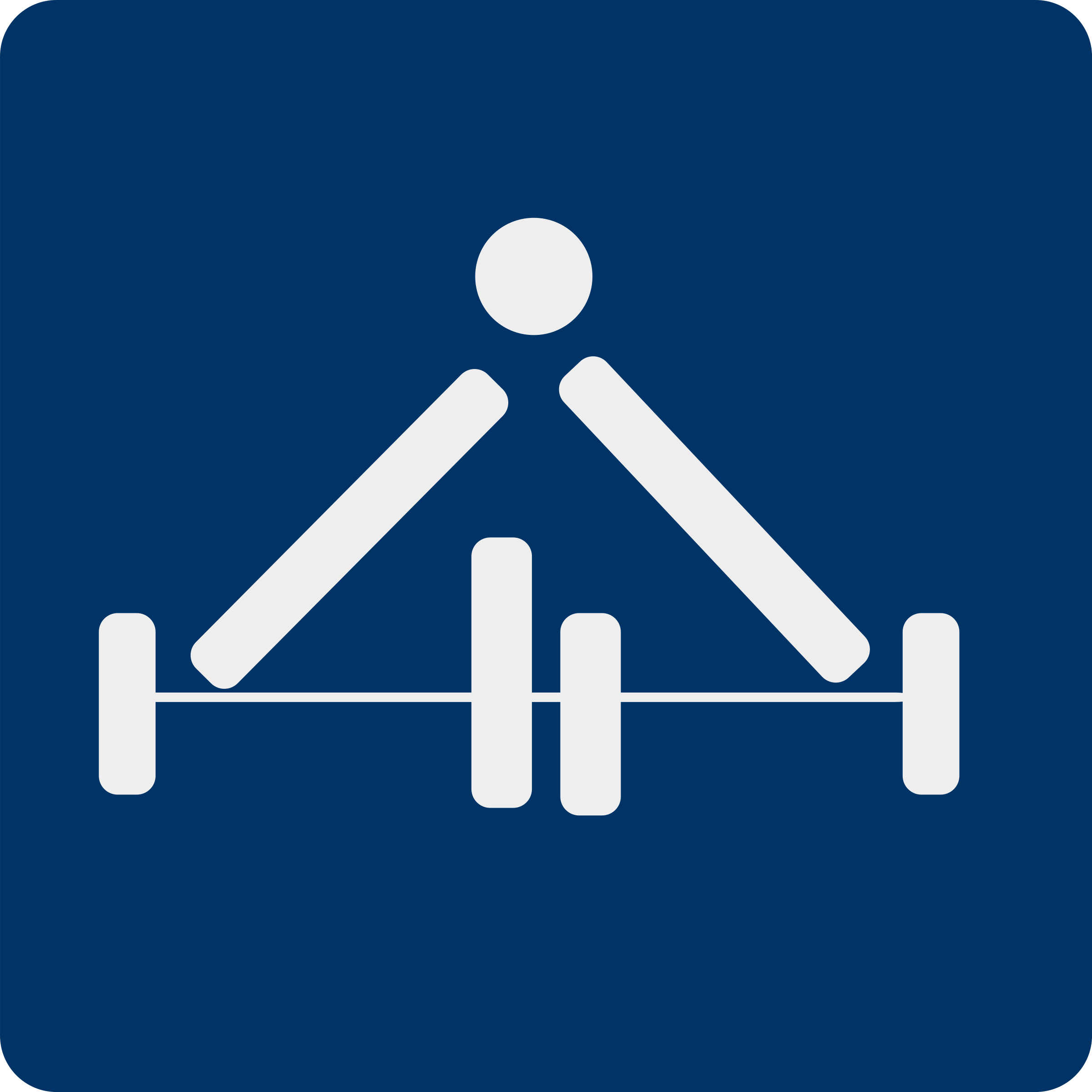 weight lifting pictogram by shokunin