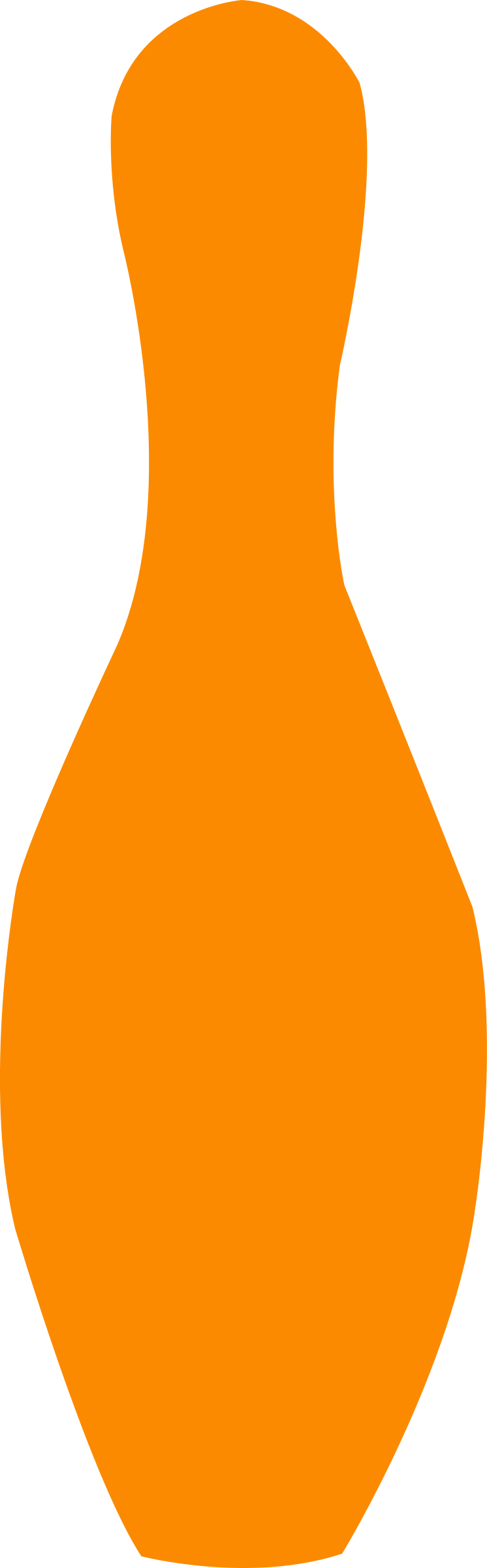 bowling pin orange by shokunin