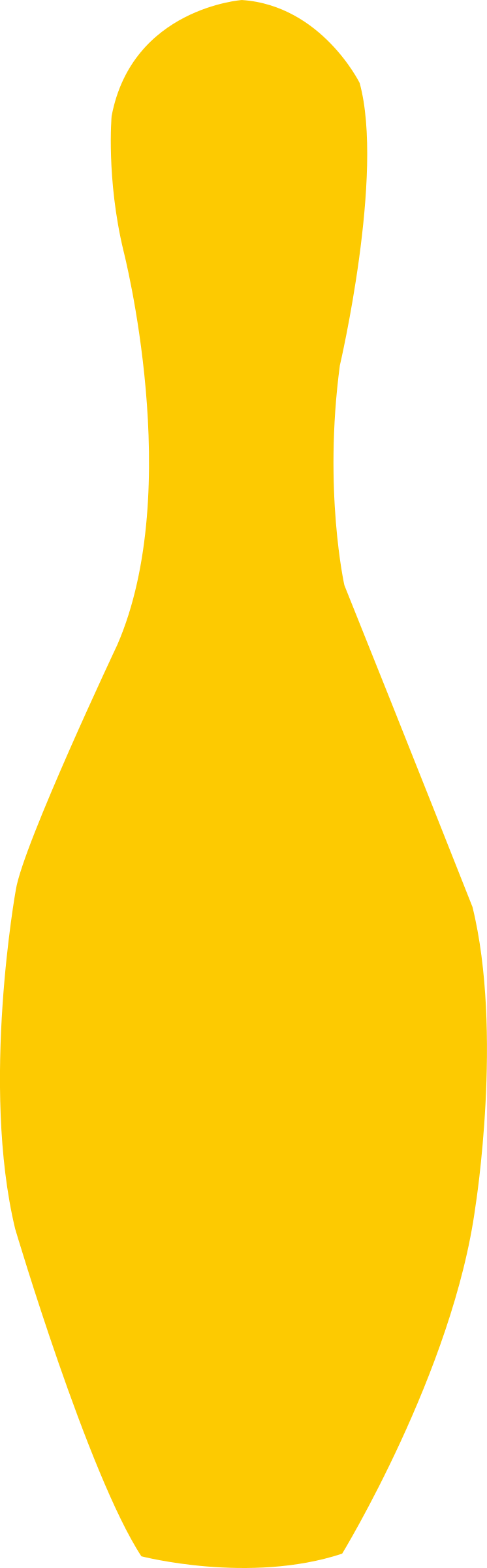 bowling pin yellow by shokunin