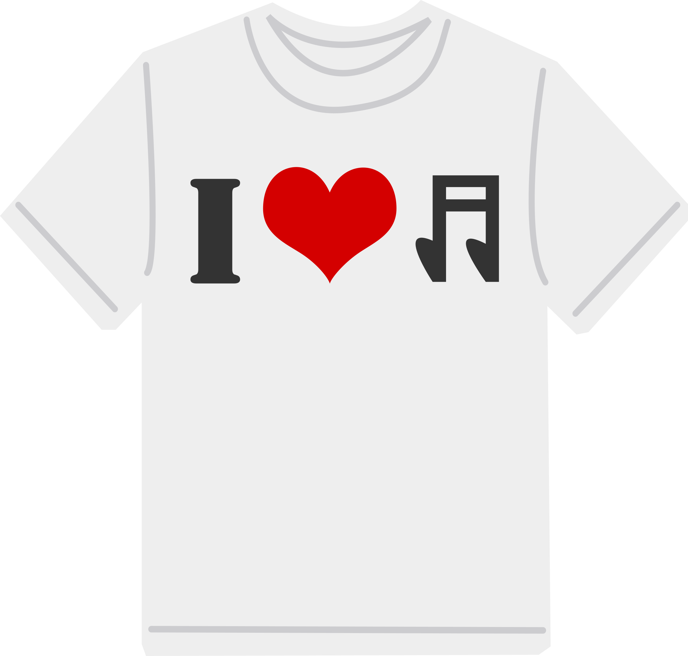 I Love music T-shirt by shokunin