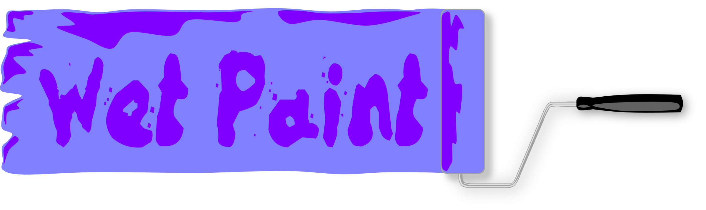 Wet Paint Sign by Gerald_G