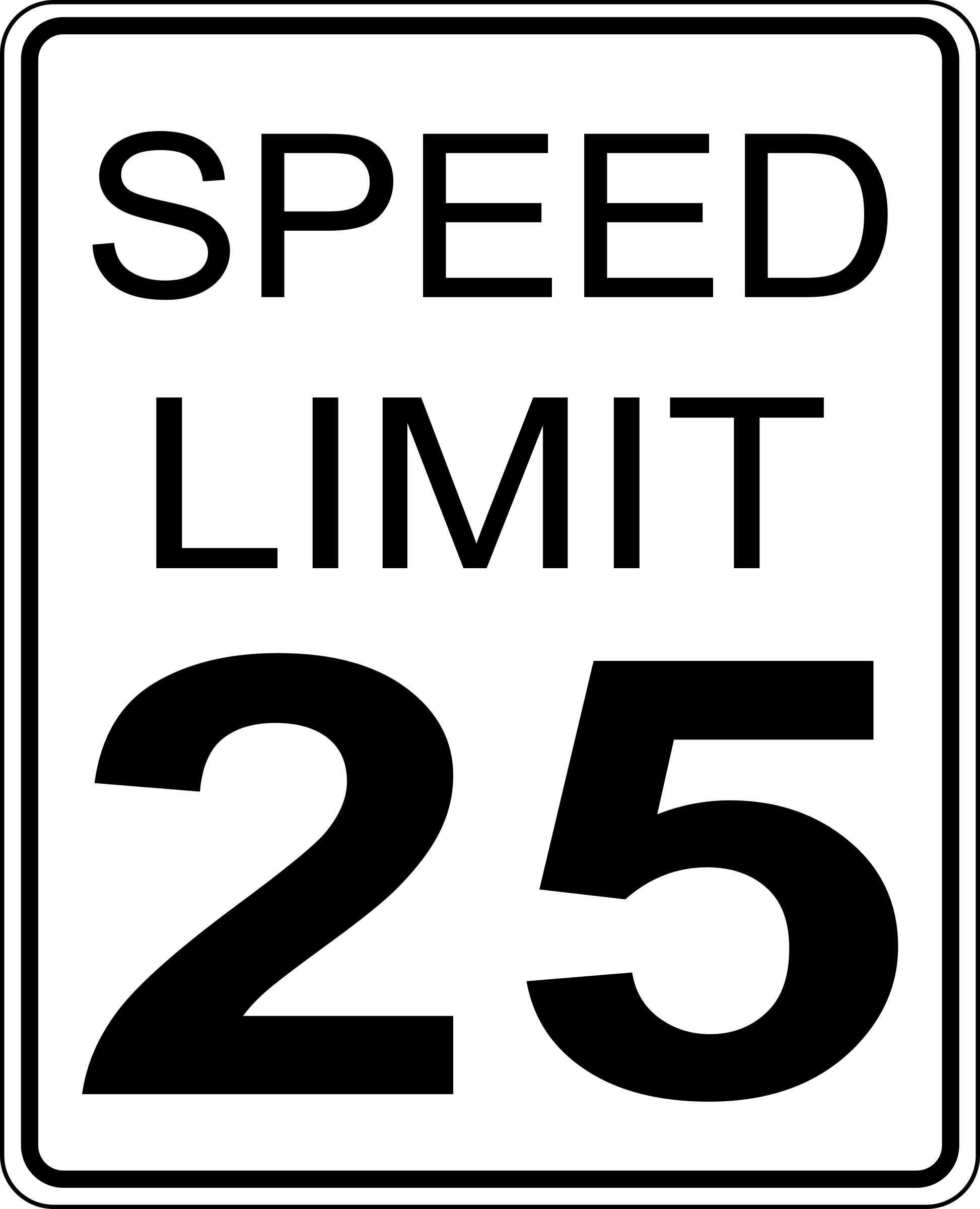 CA speed limit 25 roadsign by paulprogrammer