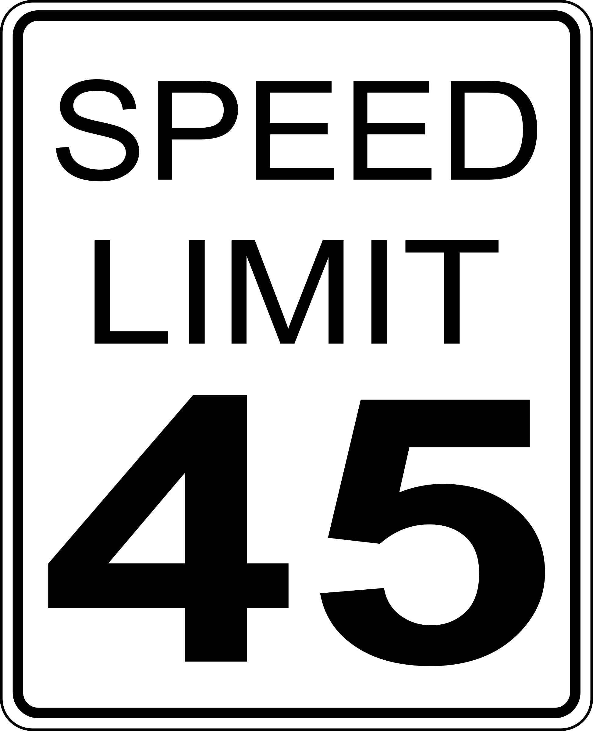 CA speed limit 45 roadsign by paulprogrammer