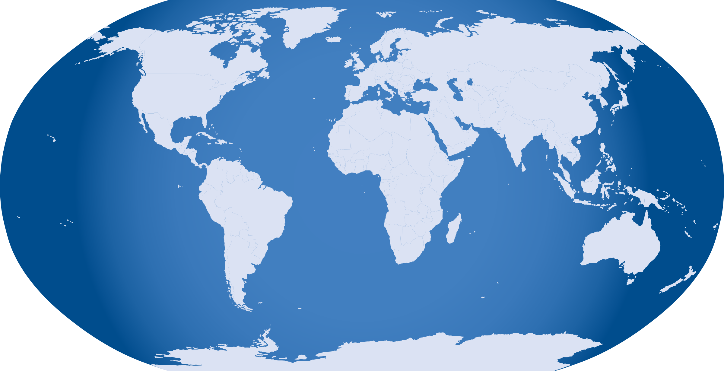 Clipart Blue World Map