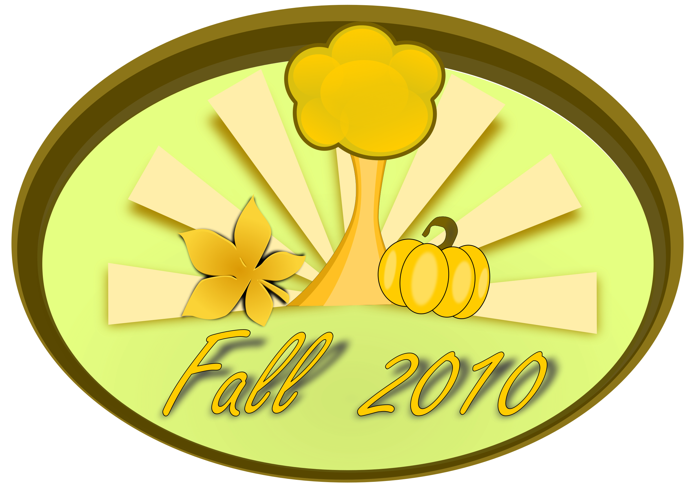 Fall clip art by inky2010