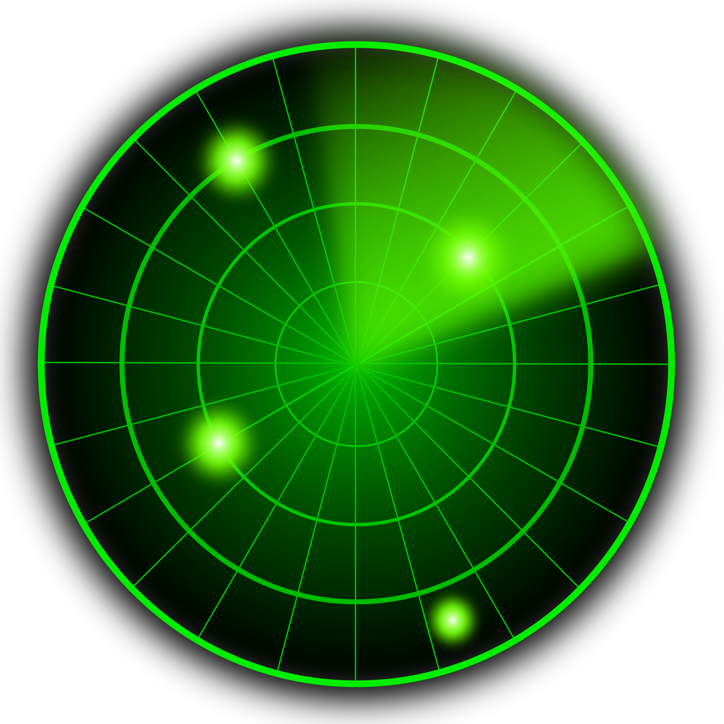 Radar on Pixel Circles