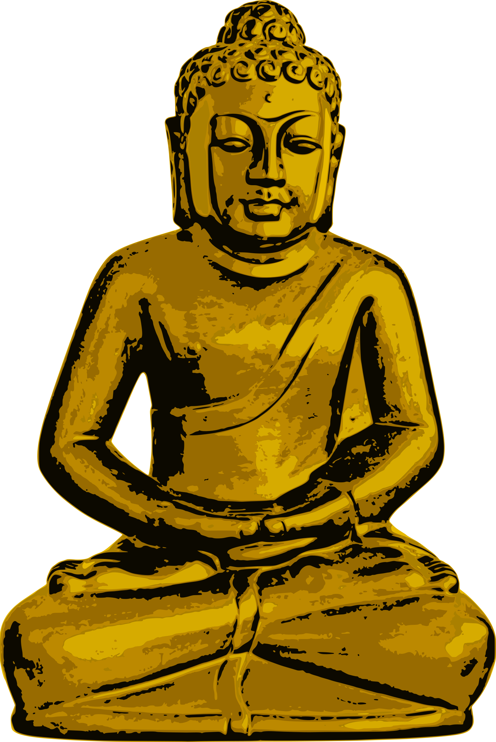 Golden Buddha by Tomas Sobek